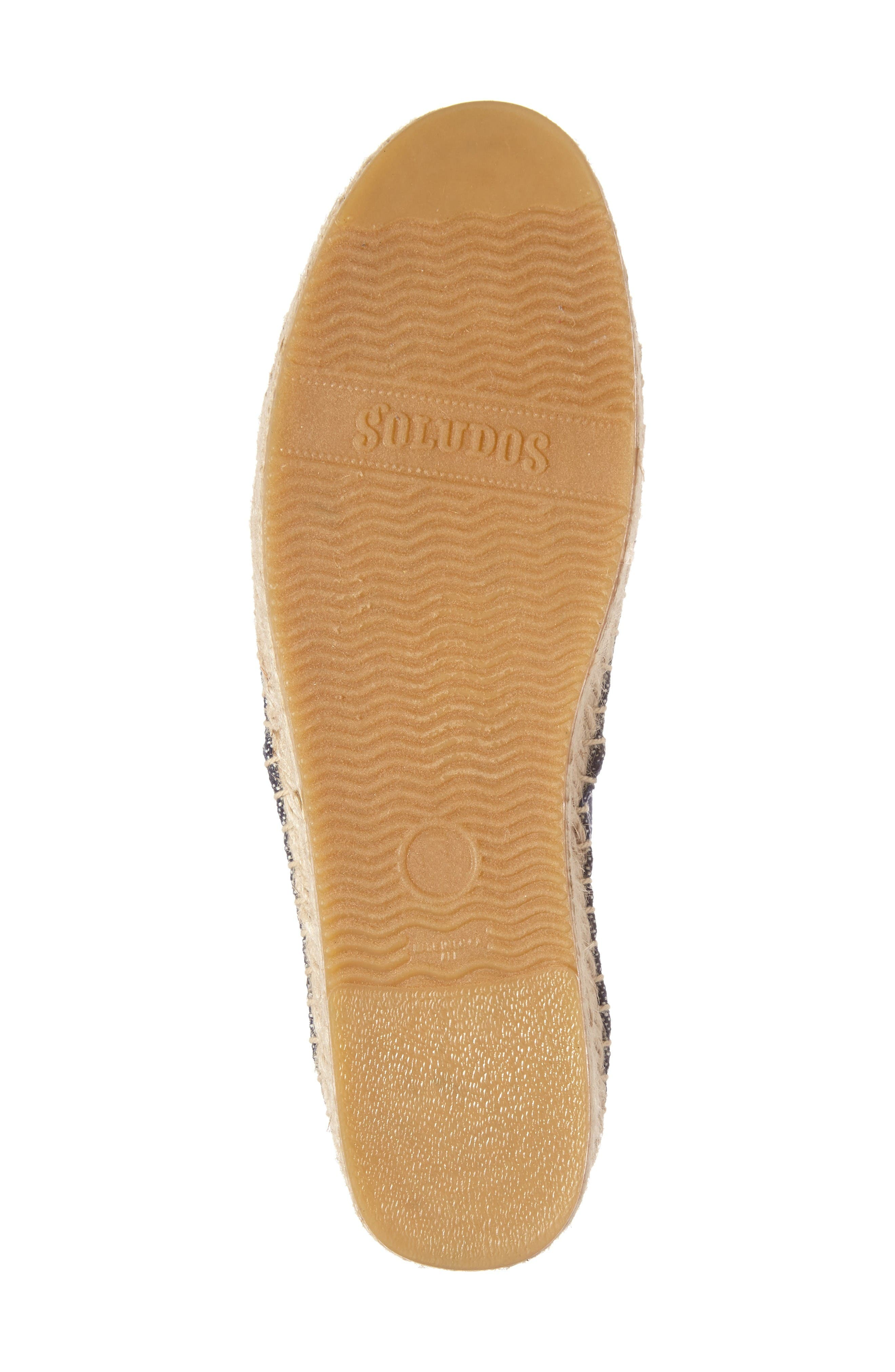 Espadrille Oxford,                             Alternate thumbnail 4, color,                             Navy Canvas