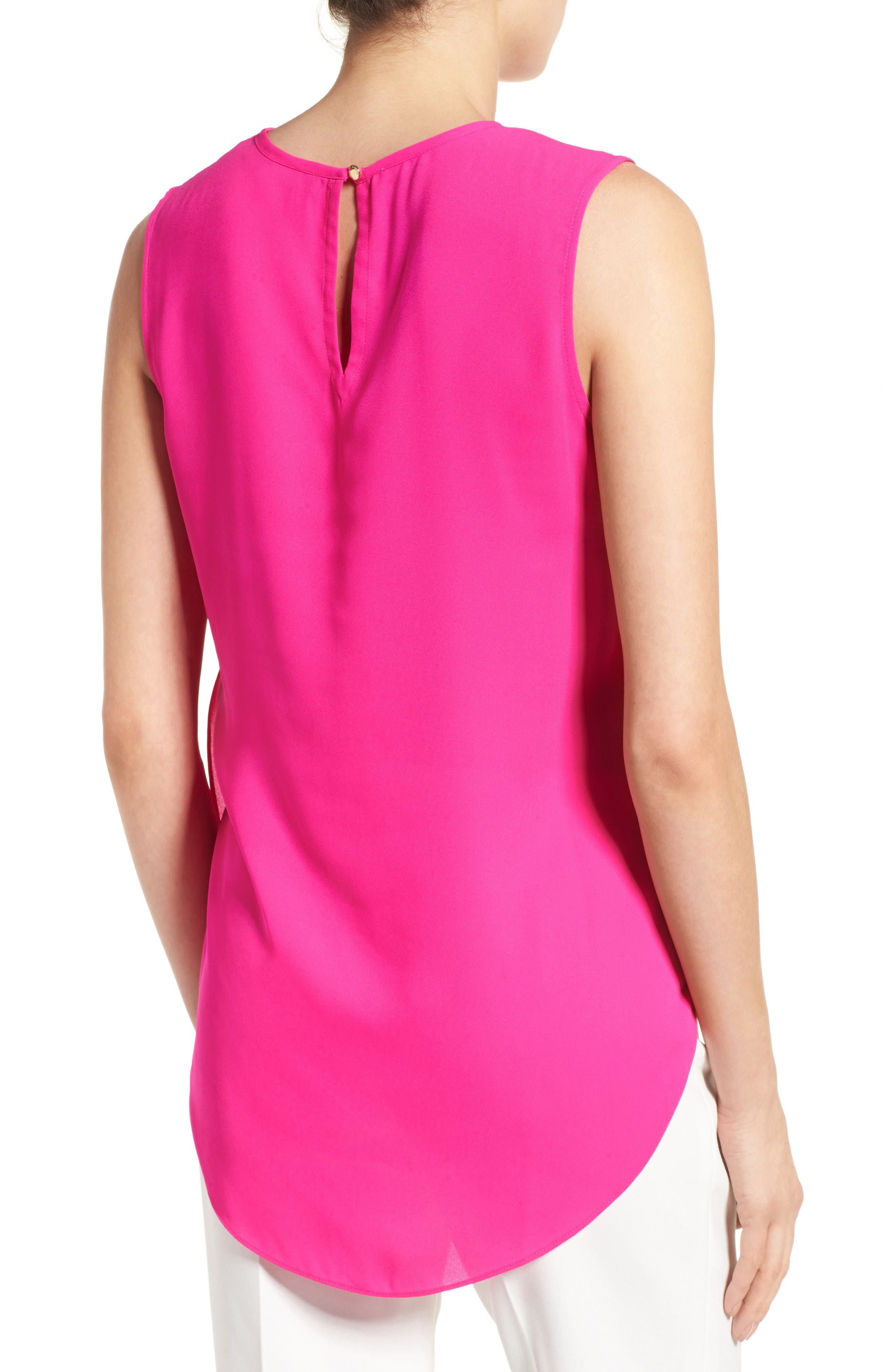 Alternate Image 2  - Vince Camuto Center Pleat Sleeveless Blouse