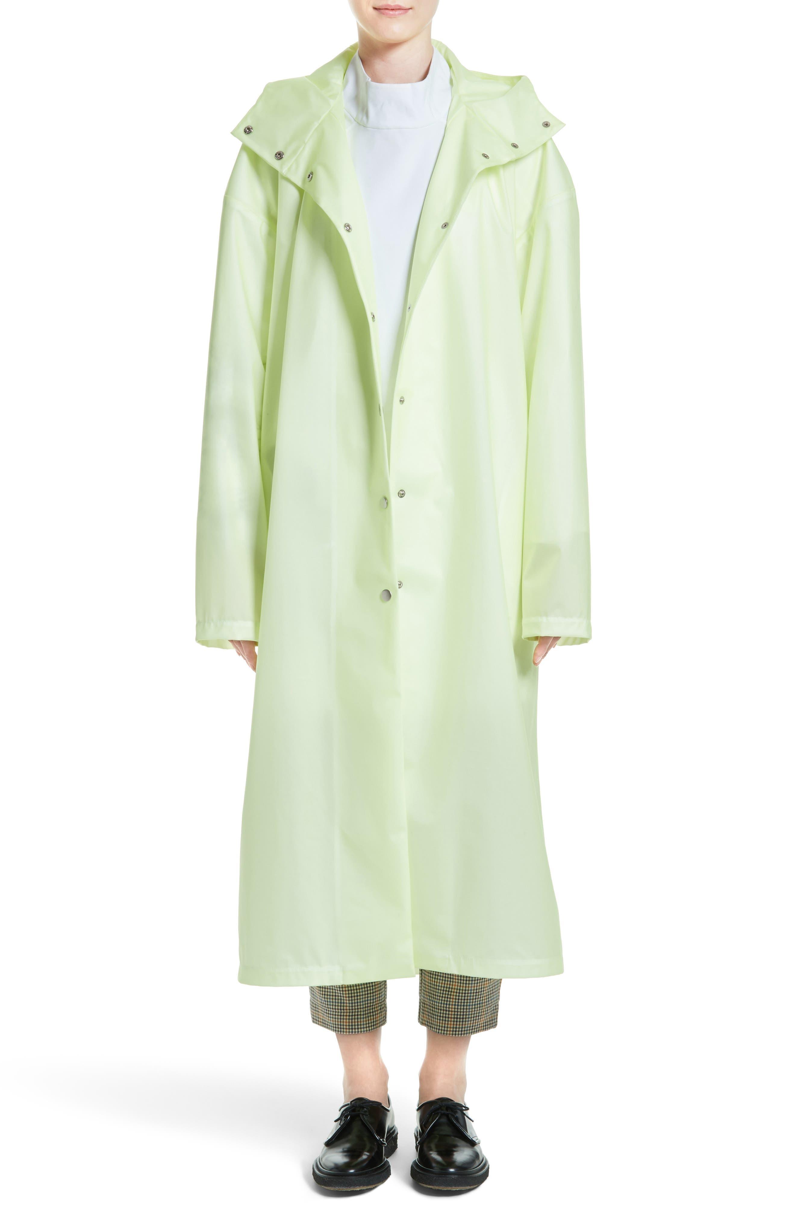 Main Image - A.W.A.K.E. Oversize Waterproof Hooded Coat