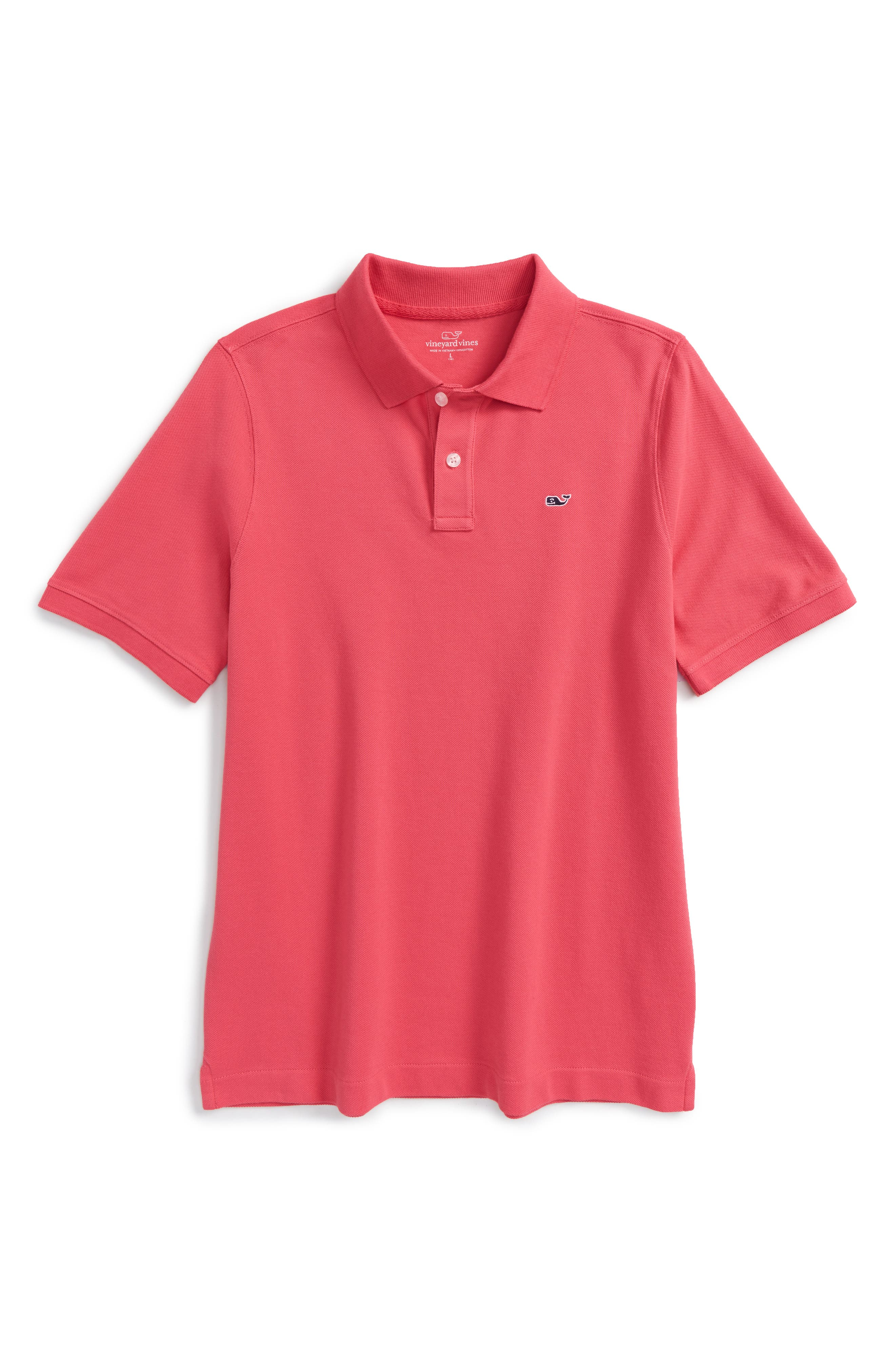 Alternate Image 1 Selected - vineyard vines Classic Piqué Cotton Polo (Toddler Boys, Little Boys & Big Boys)