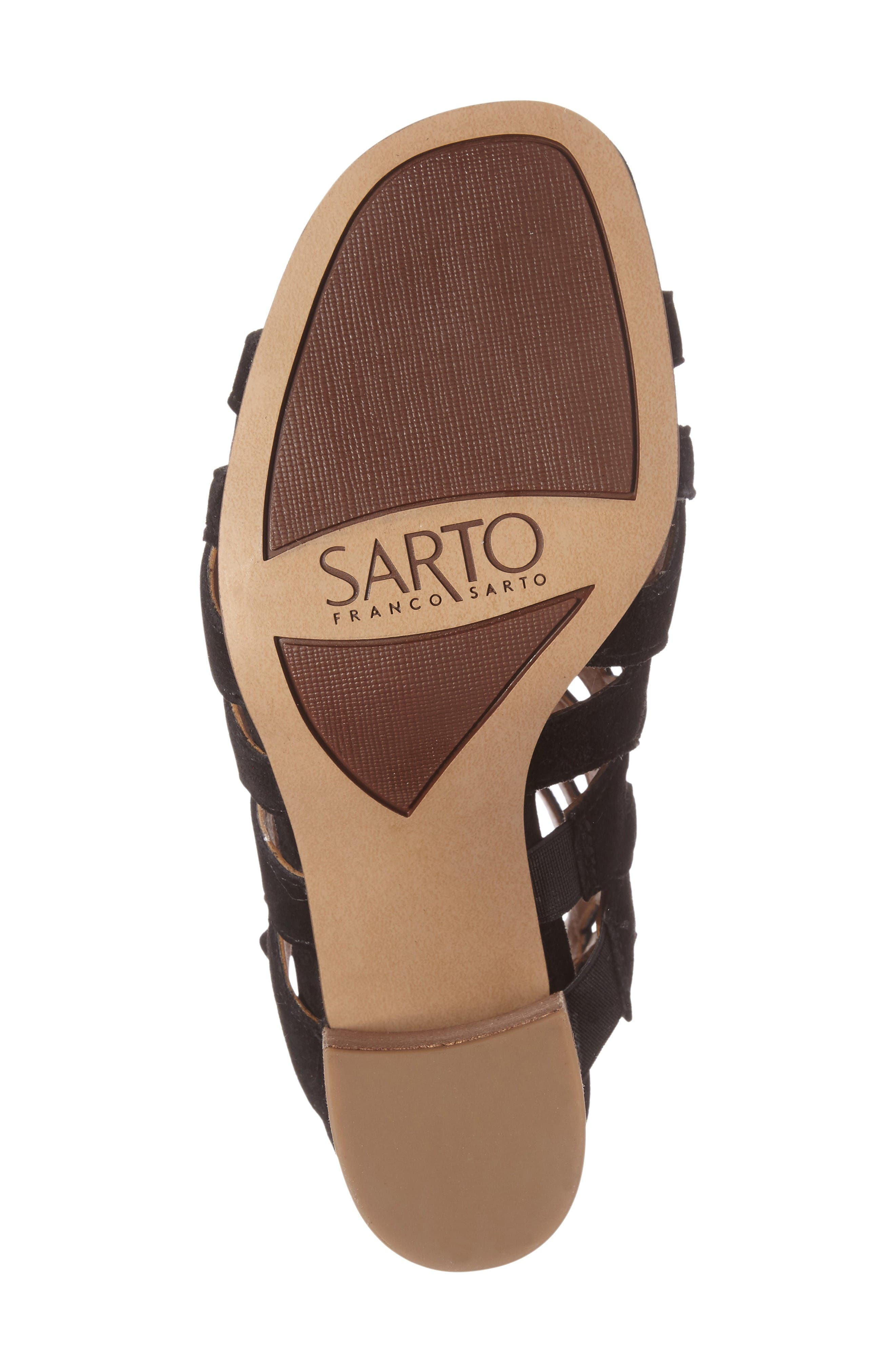 Alternate Image 4  - SARTO by Franco Sarto Connie Block Heel Cage Sandal (Women)