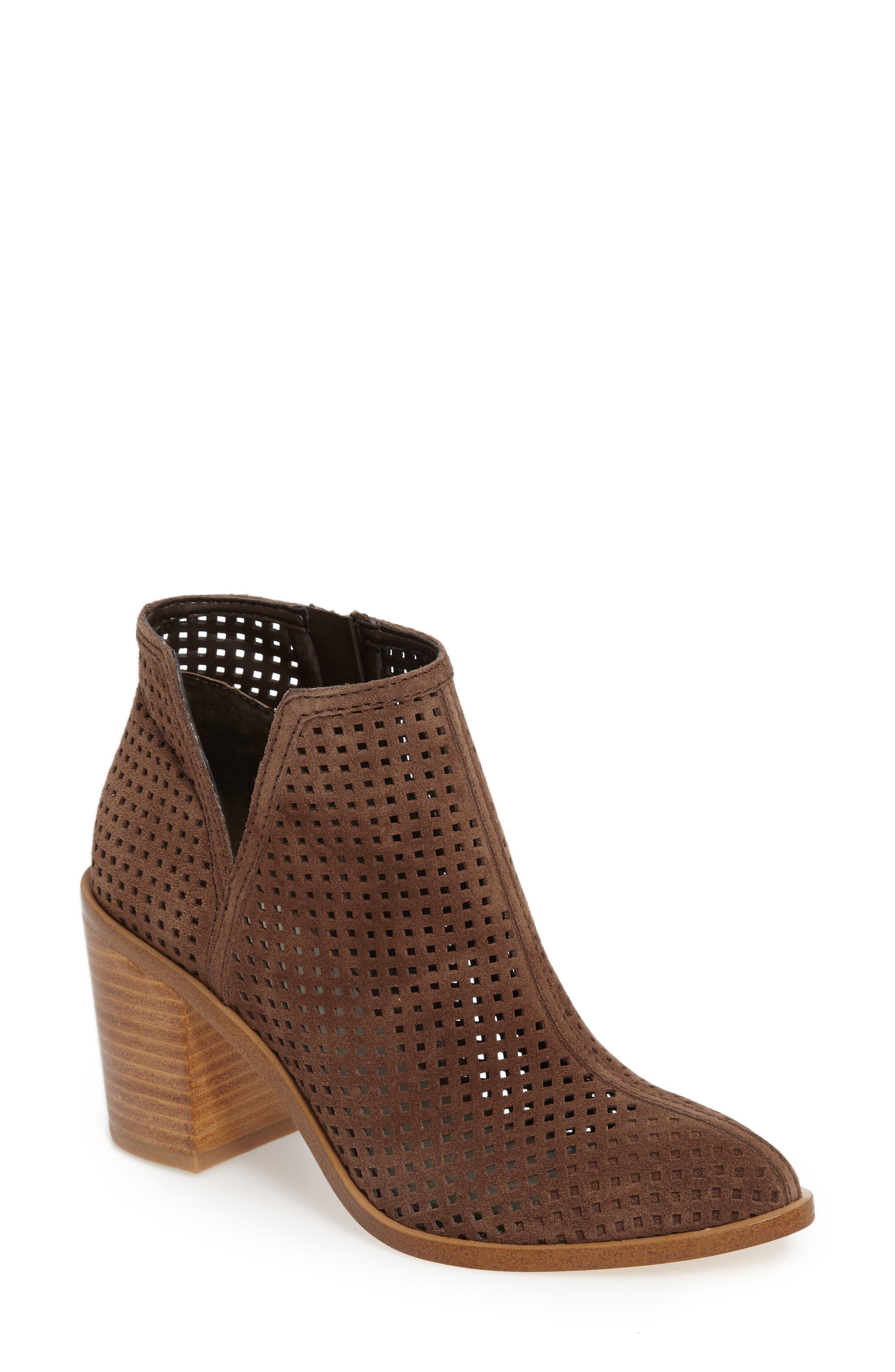 1. STATE Larocka Perforated Bootie,                             Main thumbnail 1, color,                             Mink