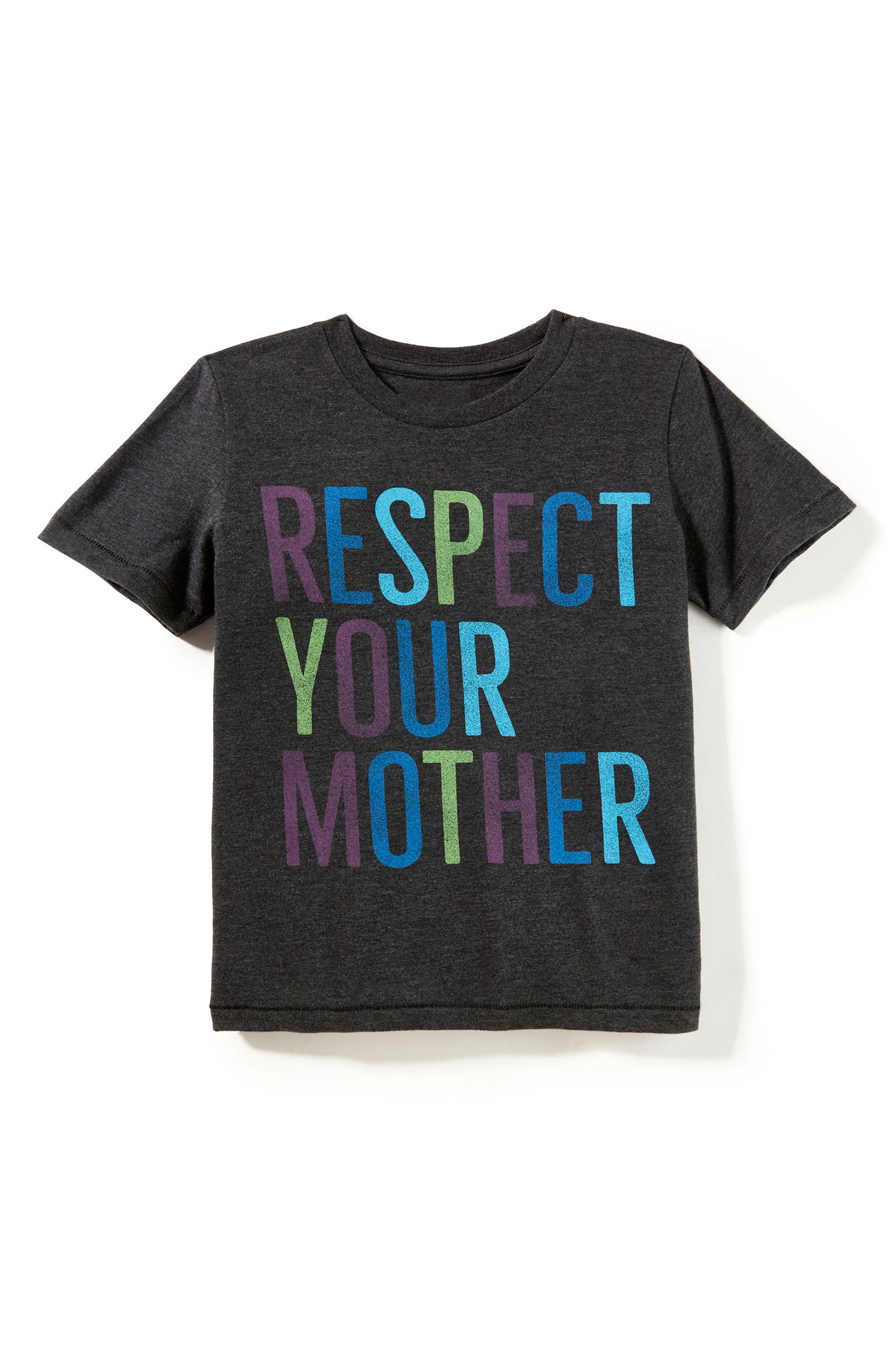 Alternate Image 1 Selected - Peek Respect Your Mother Graphic T-Shirt (Toddler Boys, Little Boys & Big Boys)