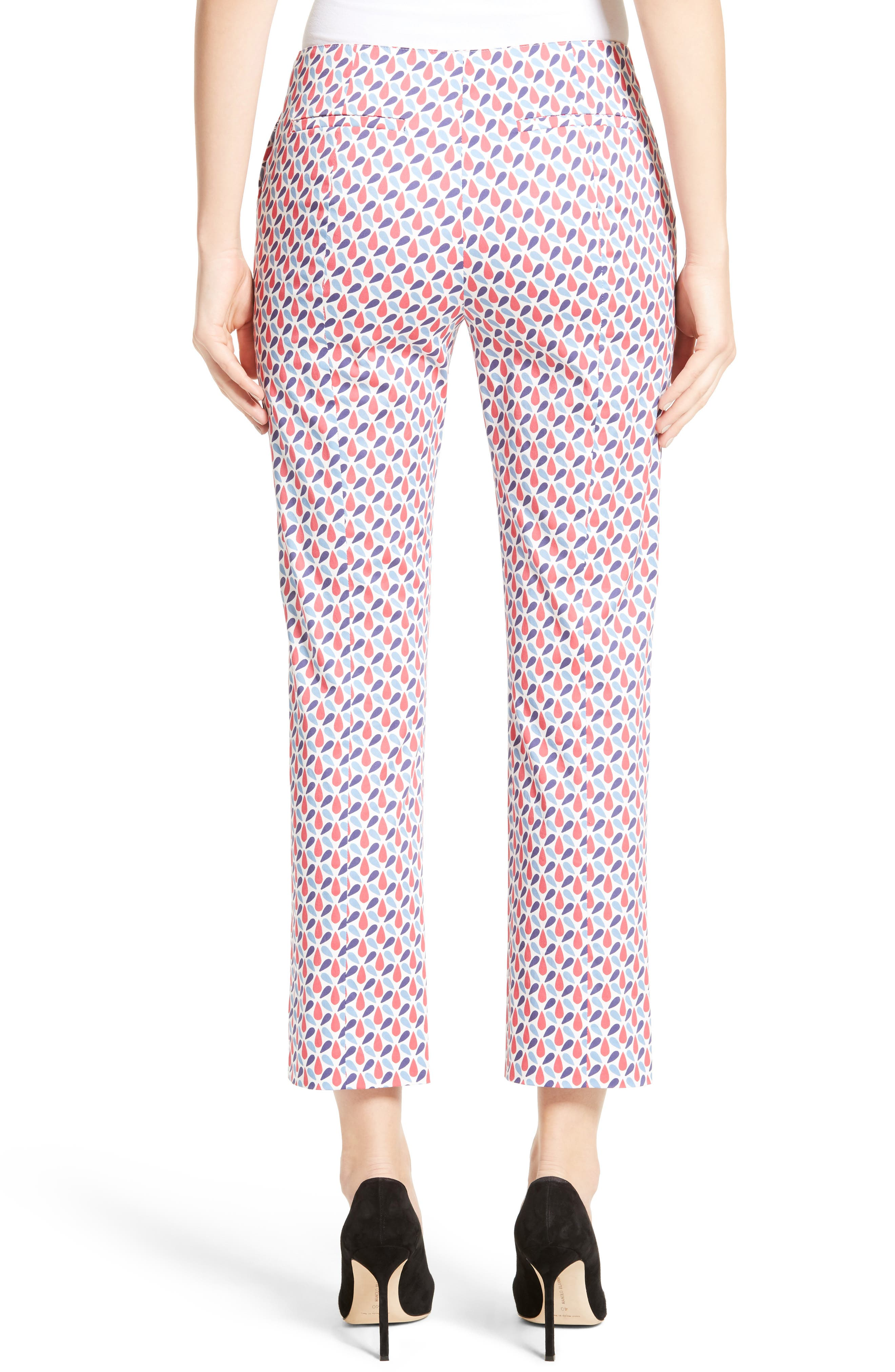 Alternate Image 2  - Armani Collezioni Print Stretch Cotton Ankle Pants