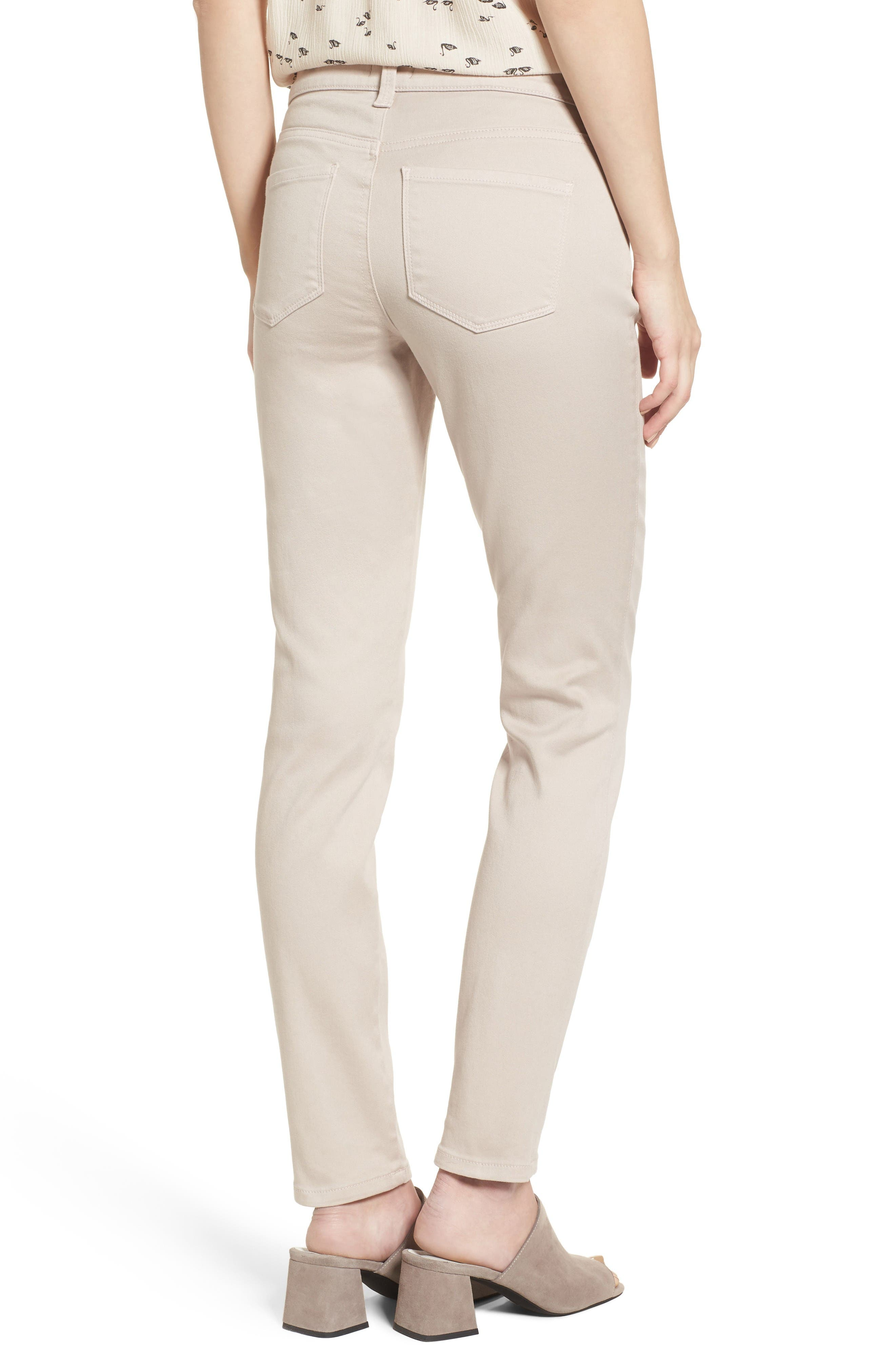 Alina Colored Stretch Skinny Jeans,                             Alternate thumbnail 2, color,                             Rose Mist