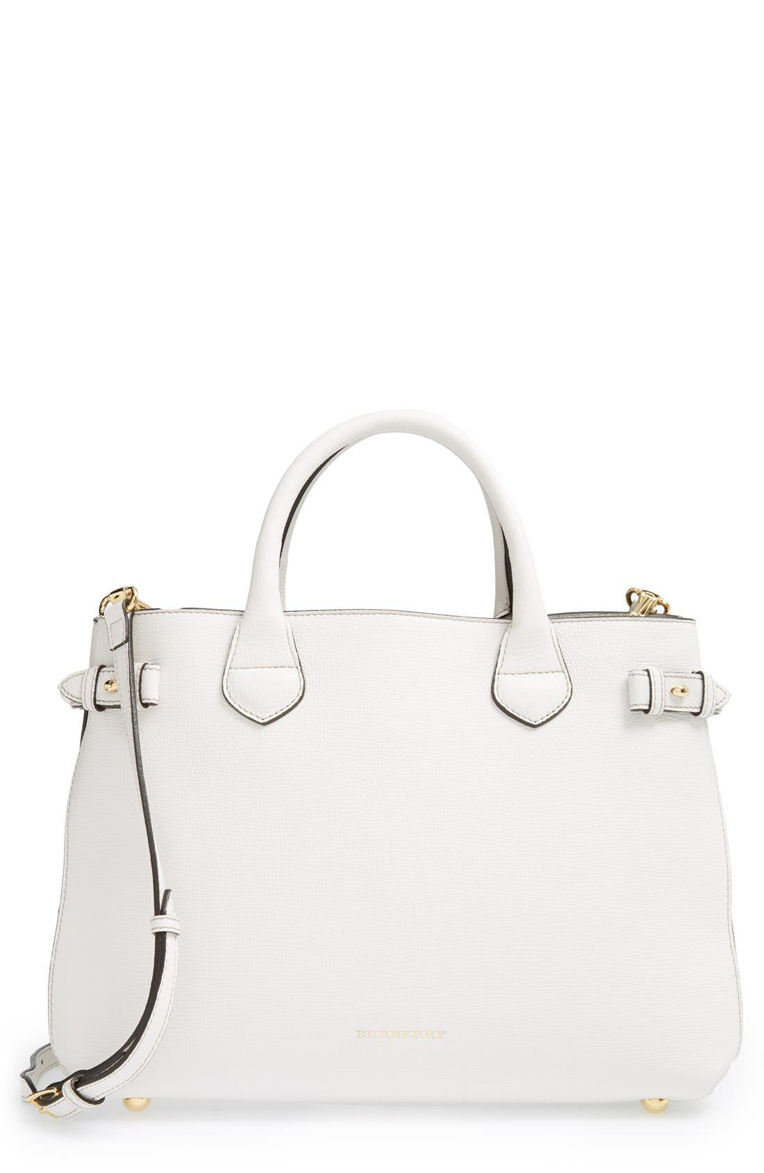 Main Image - Burberry 'Medium Banner' Leather Tote