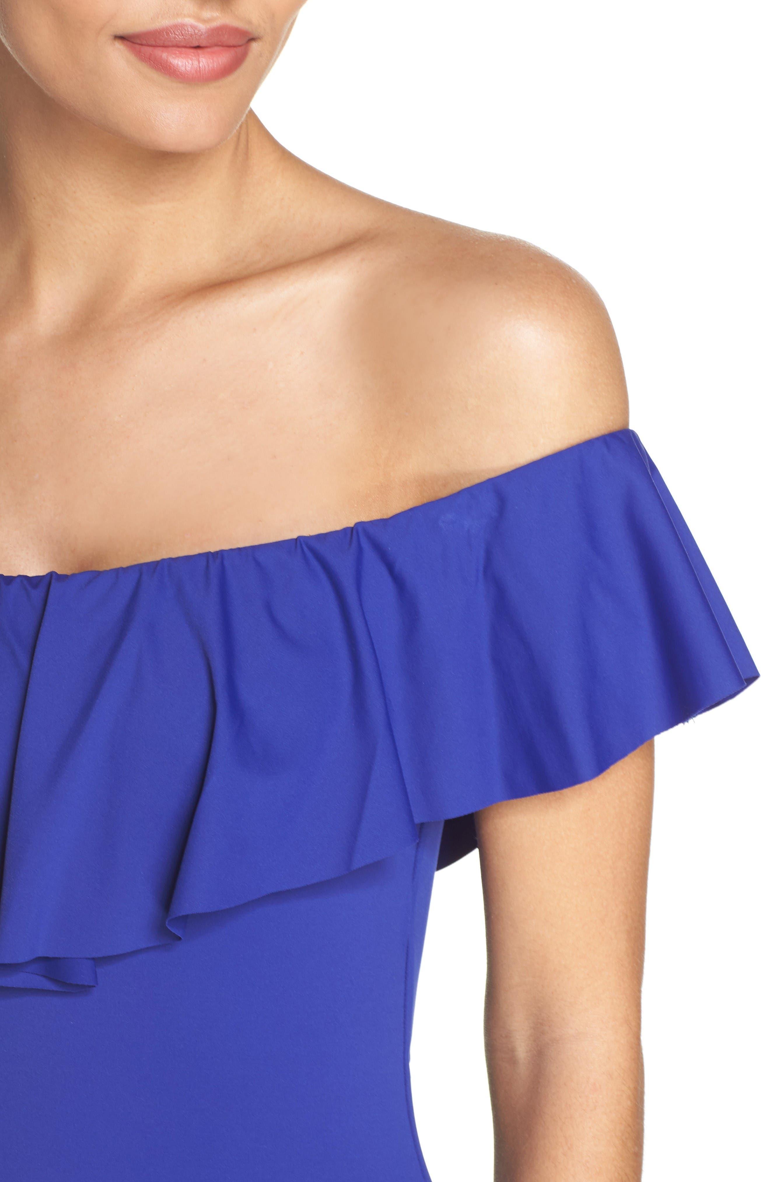 Alternate Image 4  - Trina Turk Off the Shoulder One-Piece Swimsuit