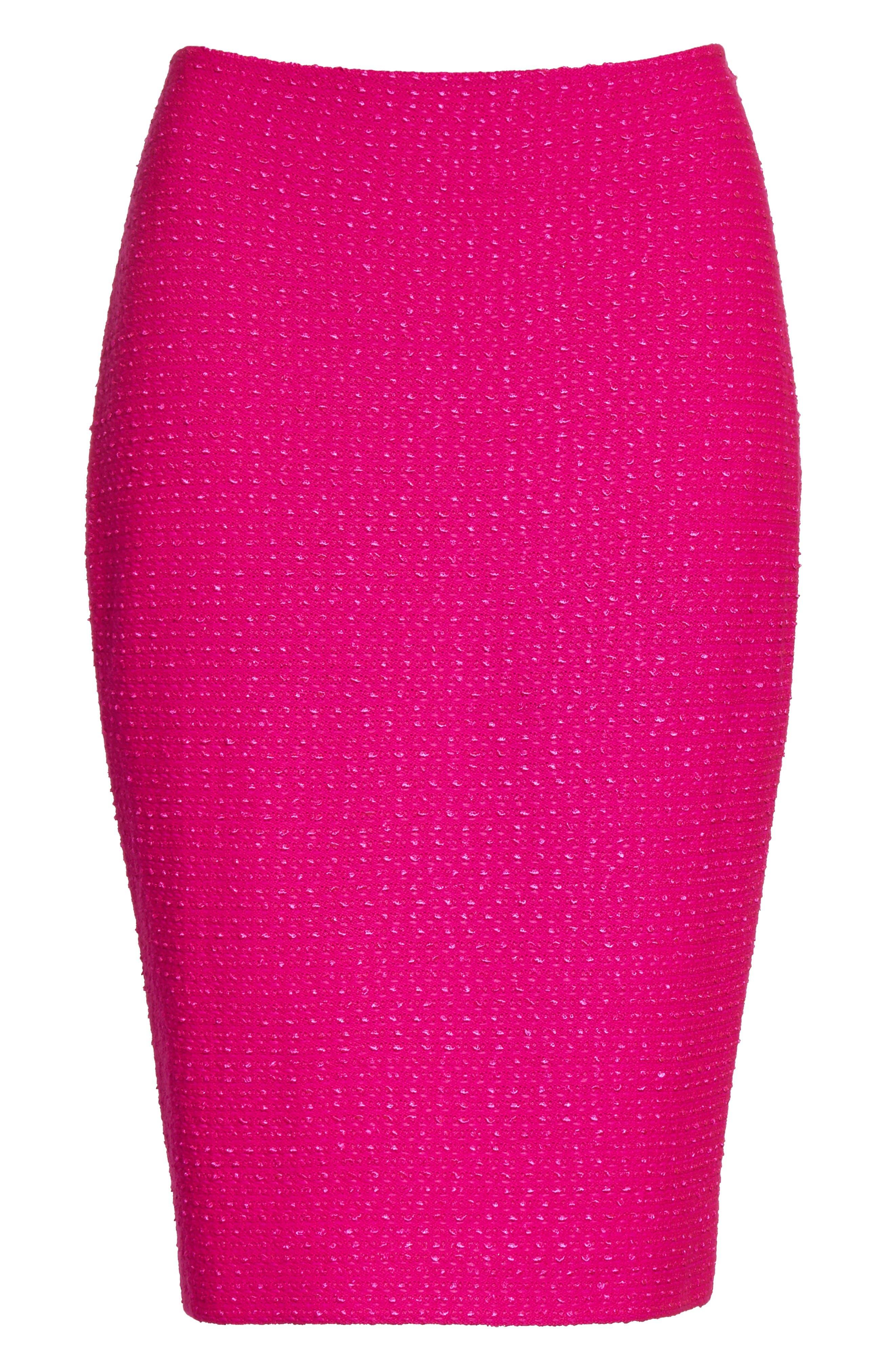 Alternate Image 6  - St. John Collection Ribbon Texture Knit Skirt