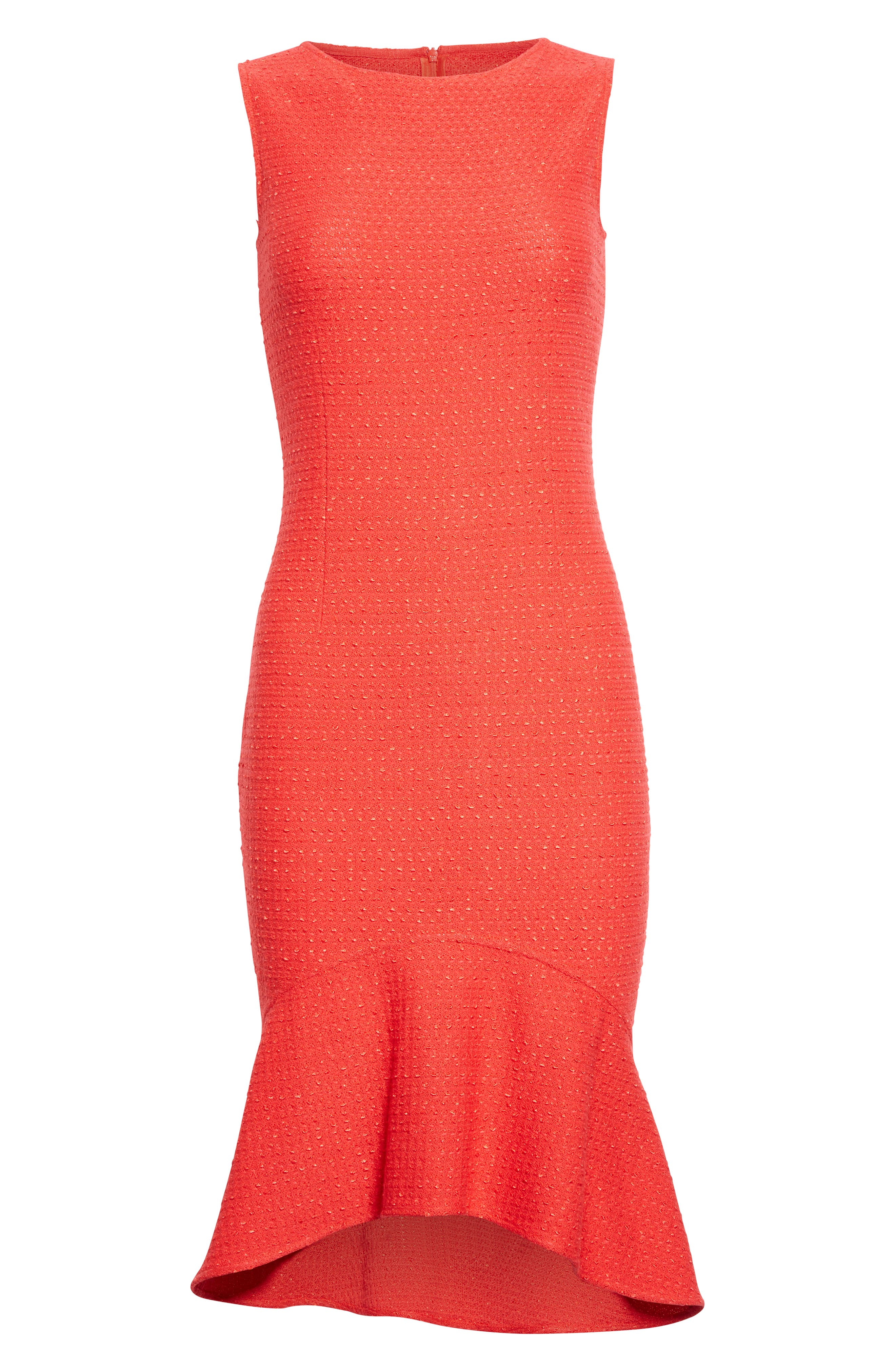 Alternate Image 6  - St. John Collection Ribbon Knit Flounce Dress