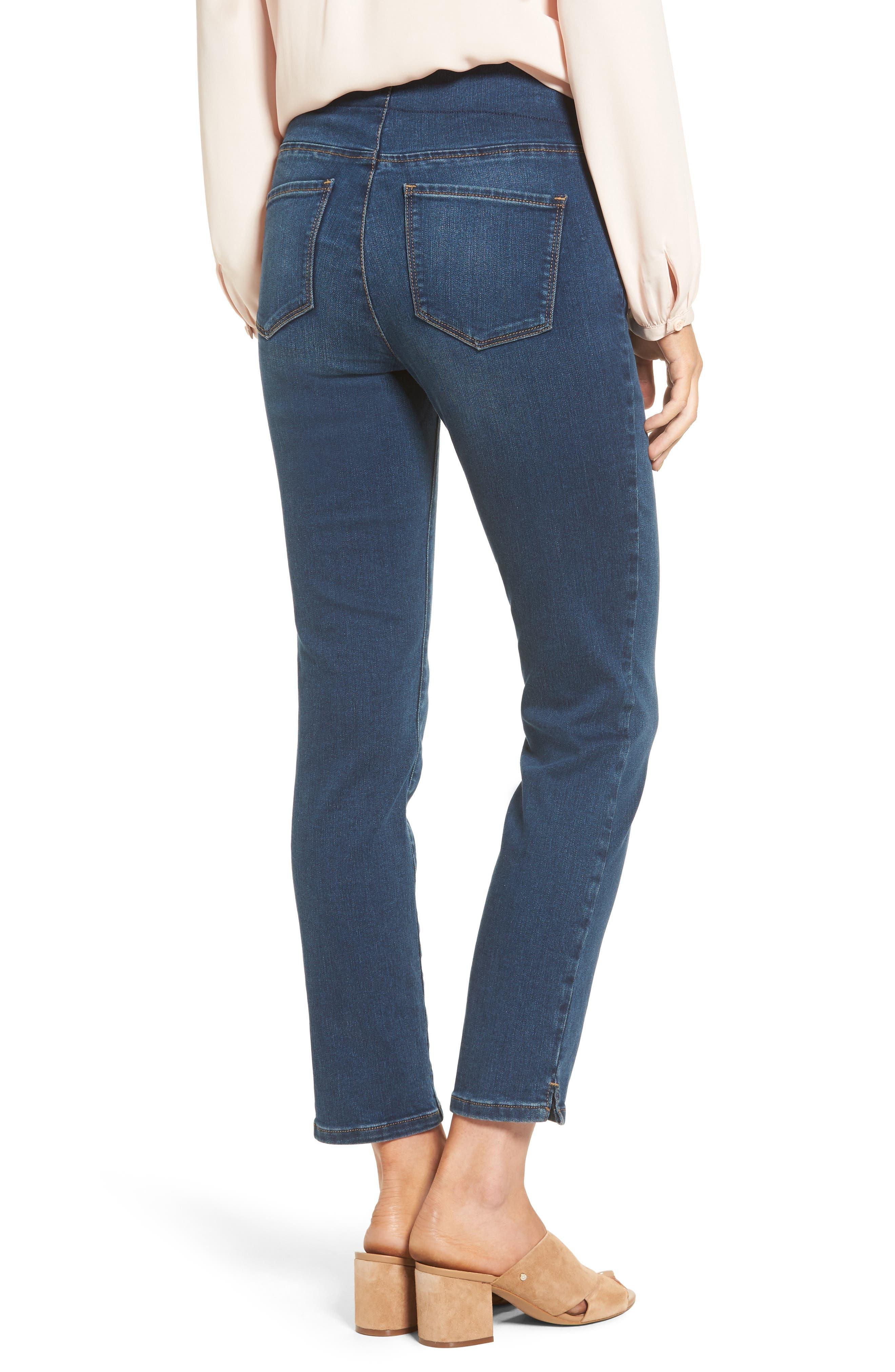 Alternate Image 2  - NYDJ Alina Pull-On Stretch Ankle Skinny Jeans (Sea Breeze) (Regular & Petite)