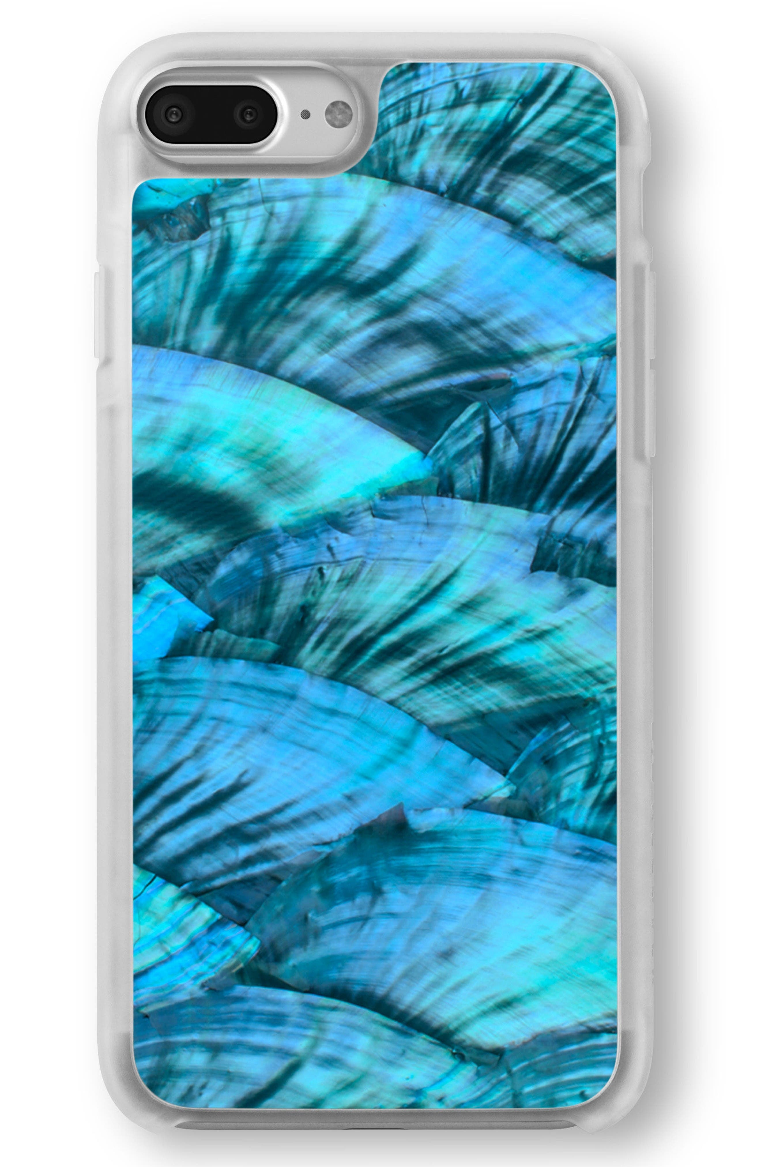 Blue Abalone iPhone 6/6s/7/8 & 6/6s/7/8 Plus Case,                             Main thumbnail 1, color,                             Blue Abalone