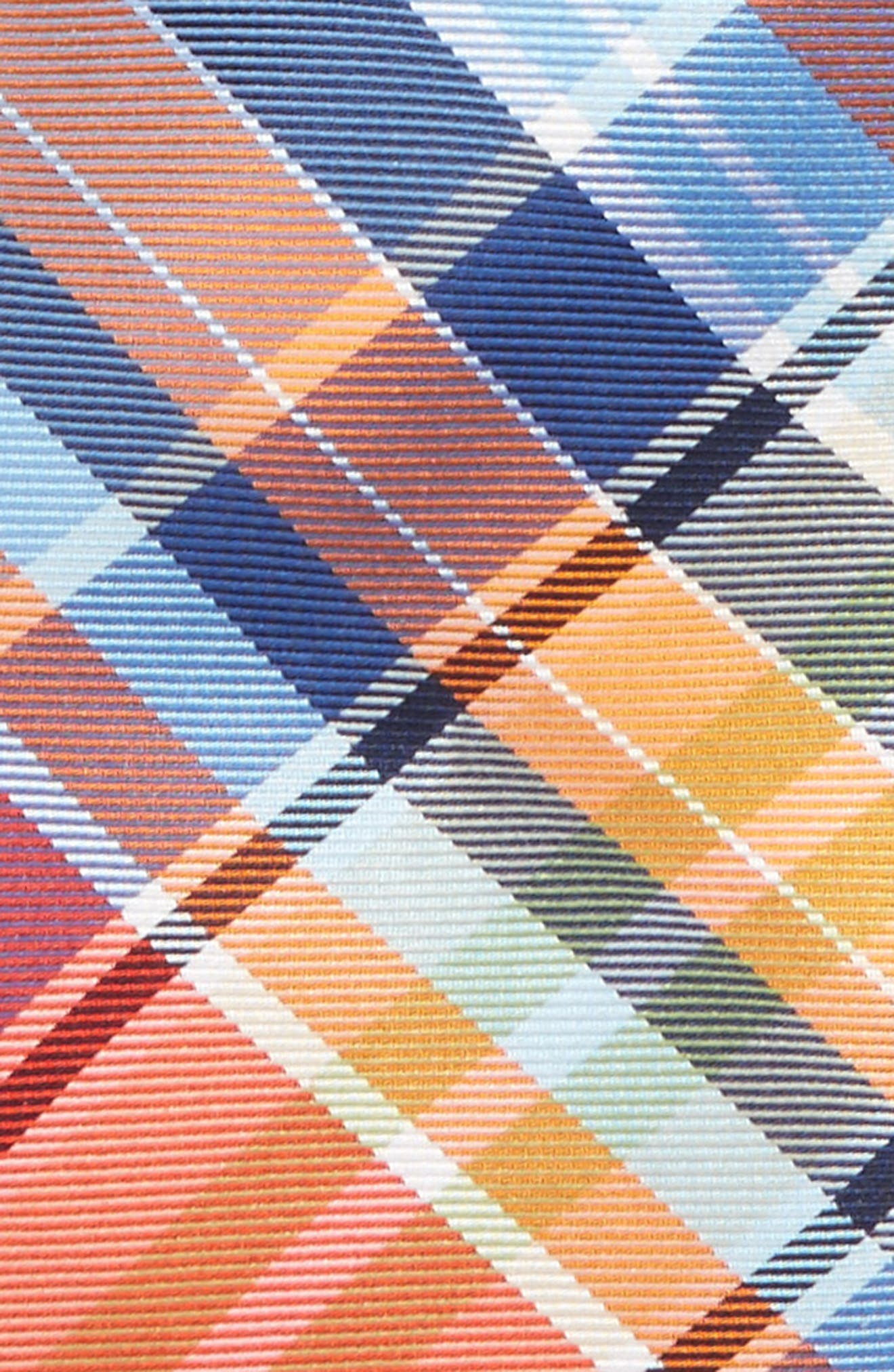 Plaid Silk Tie,                             Alternate thumbnail 2, color,                             Orange Plaid