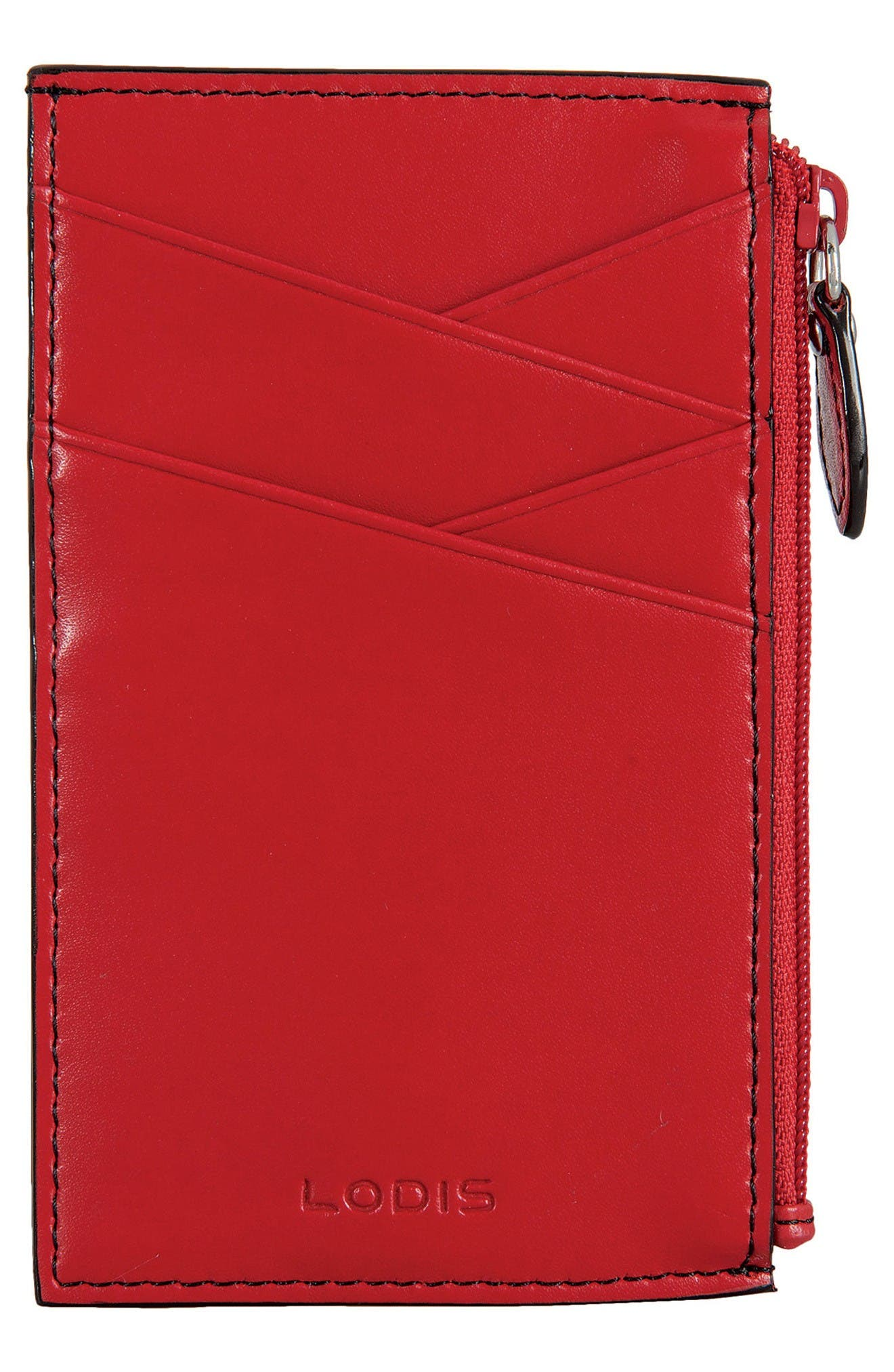 Lodis Audrey Ina Card Case,                             Main thumbnail 1, color,                             Red