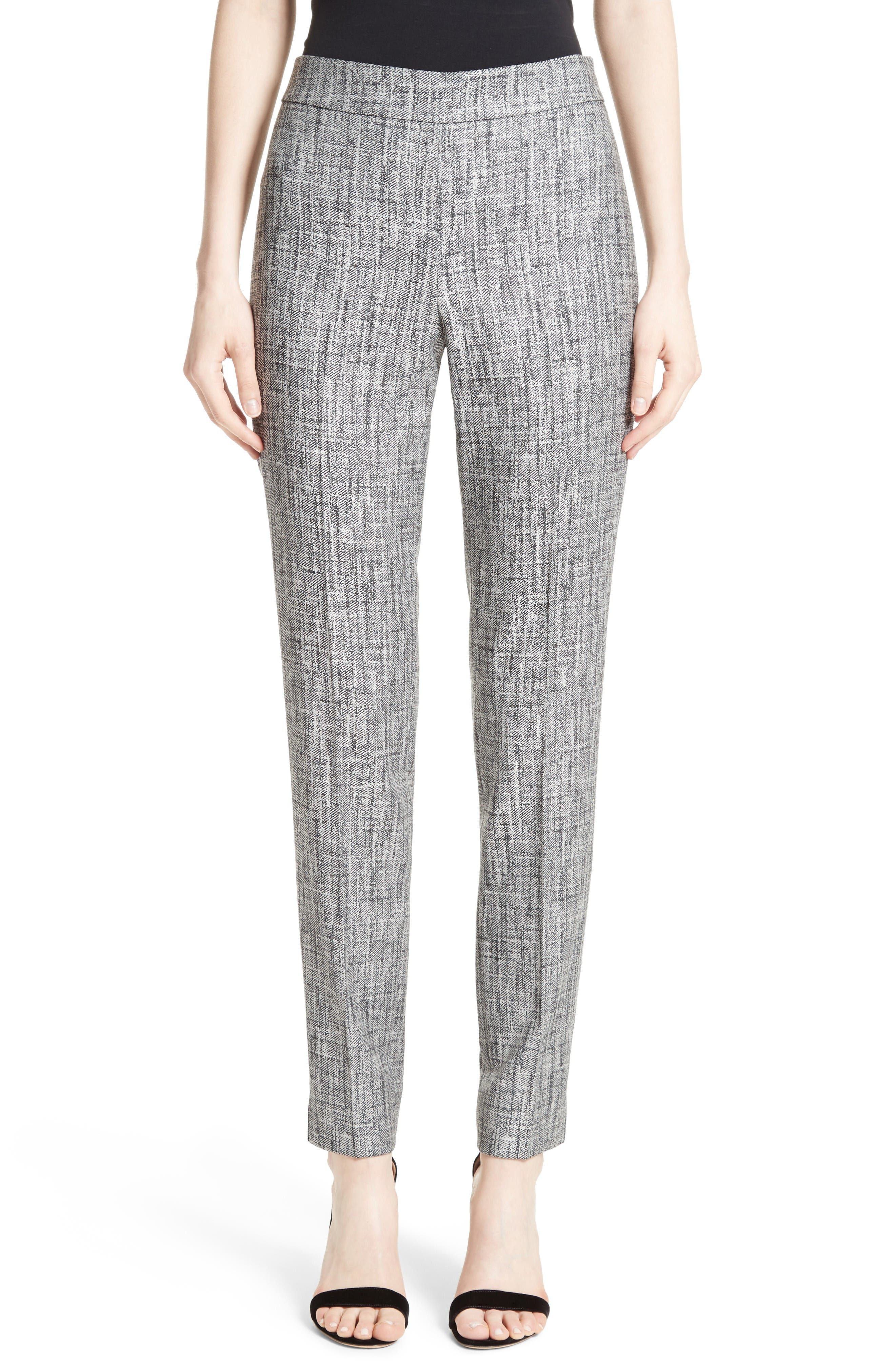 Main Image - St. John Collection Emma Abstract Stretch Twill Pants