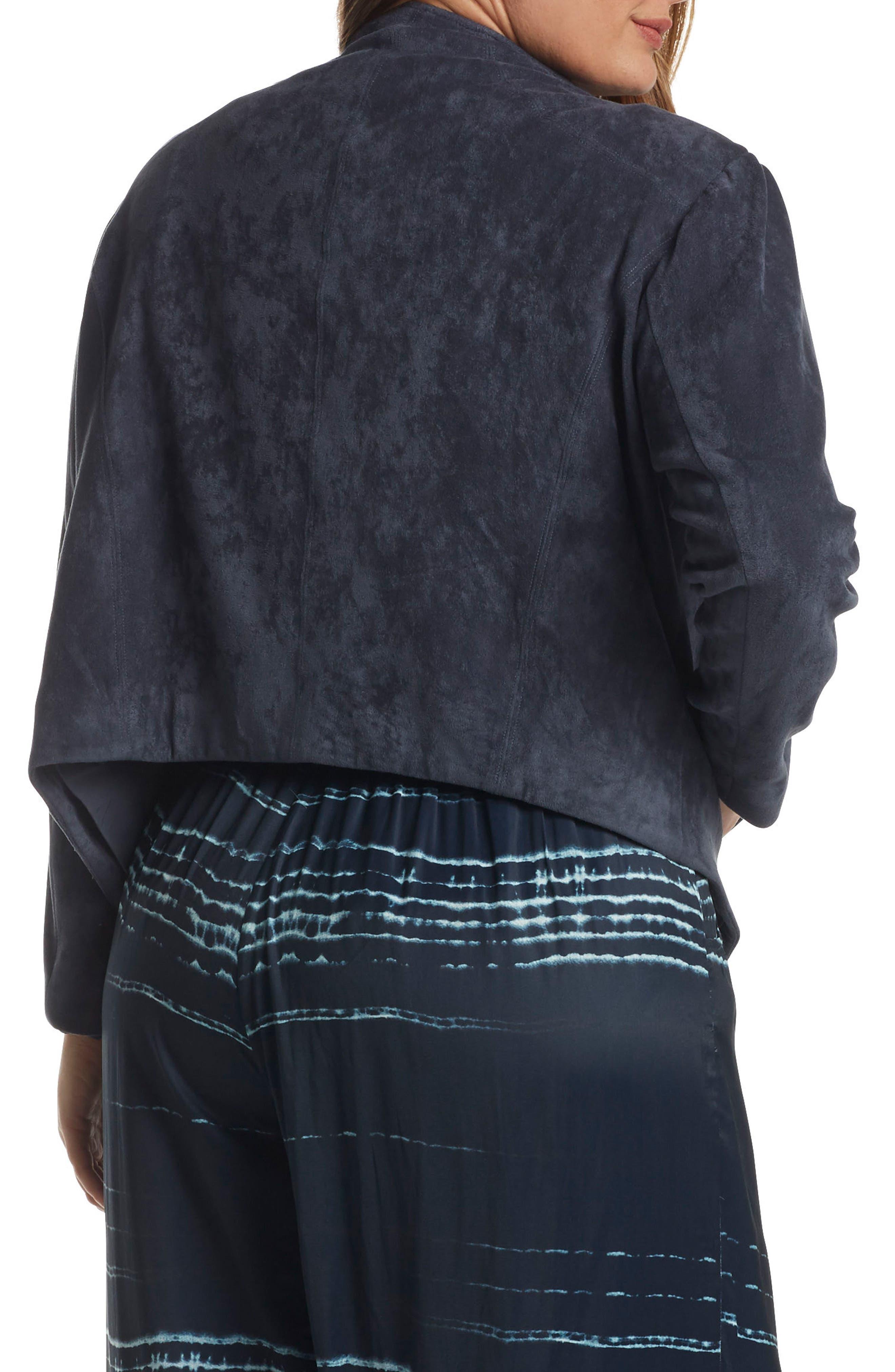 Alternate Image 2  - Tart Sybil Faux Suede Drape Front Jacket (Plus Size)