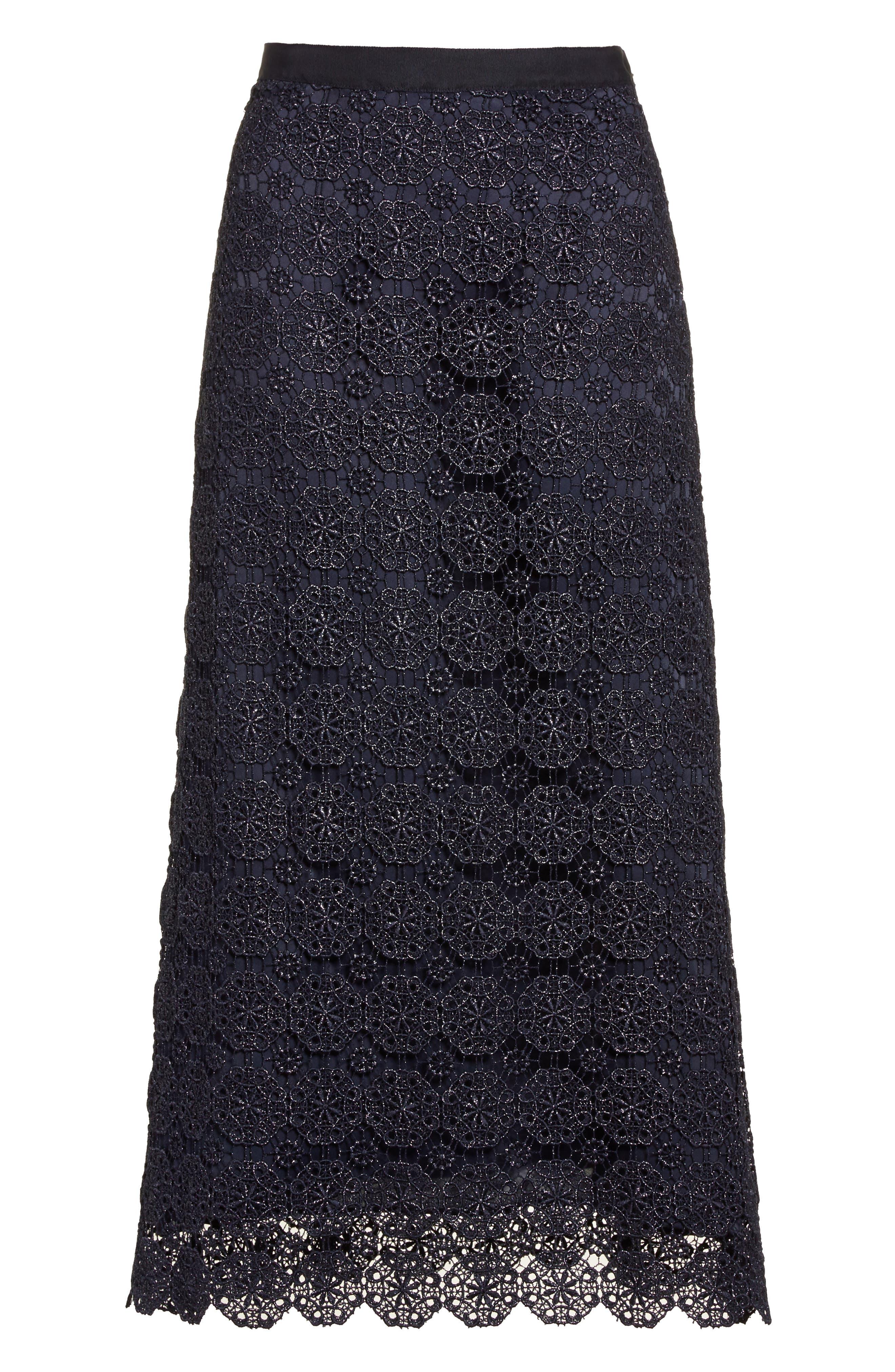 Alternate Image 6  - St. John Collection Metallic Guipure Lace Skirt