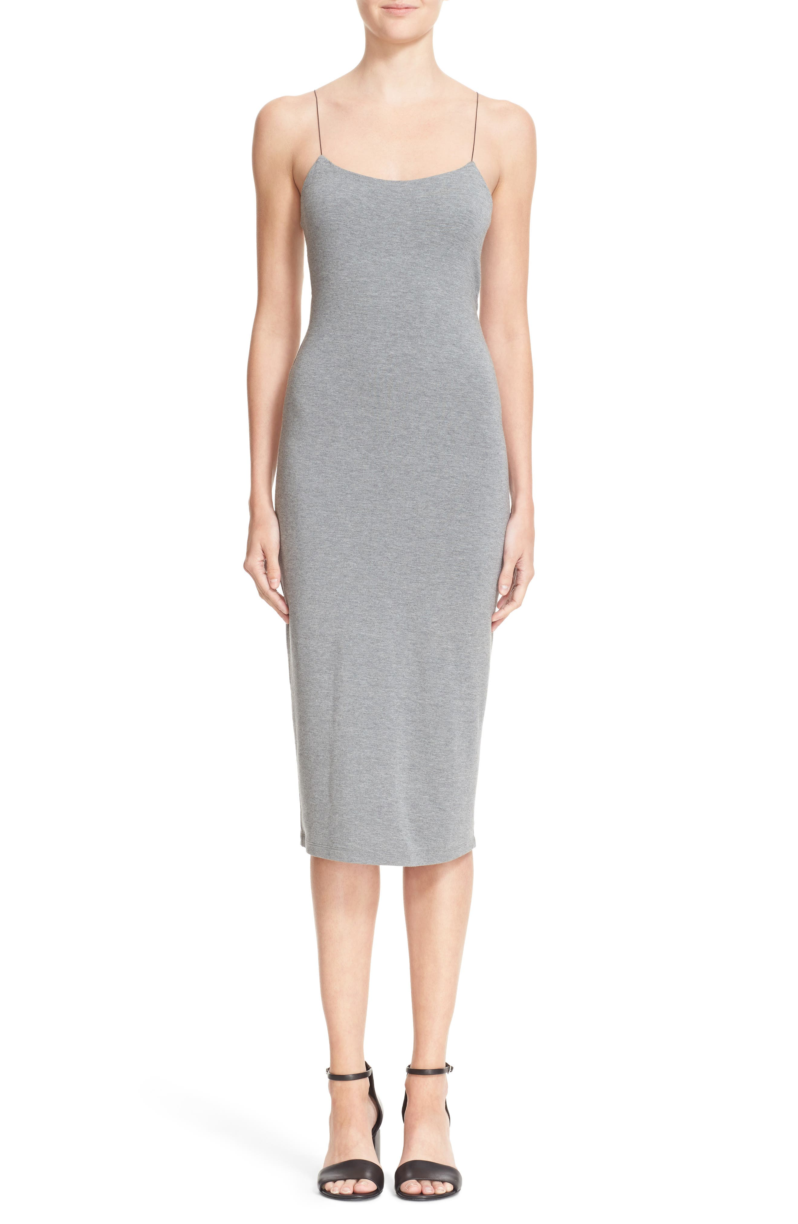 Strappy Tank Dress,                         Main,                         color, Heather Grey