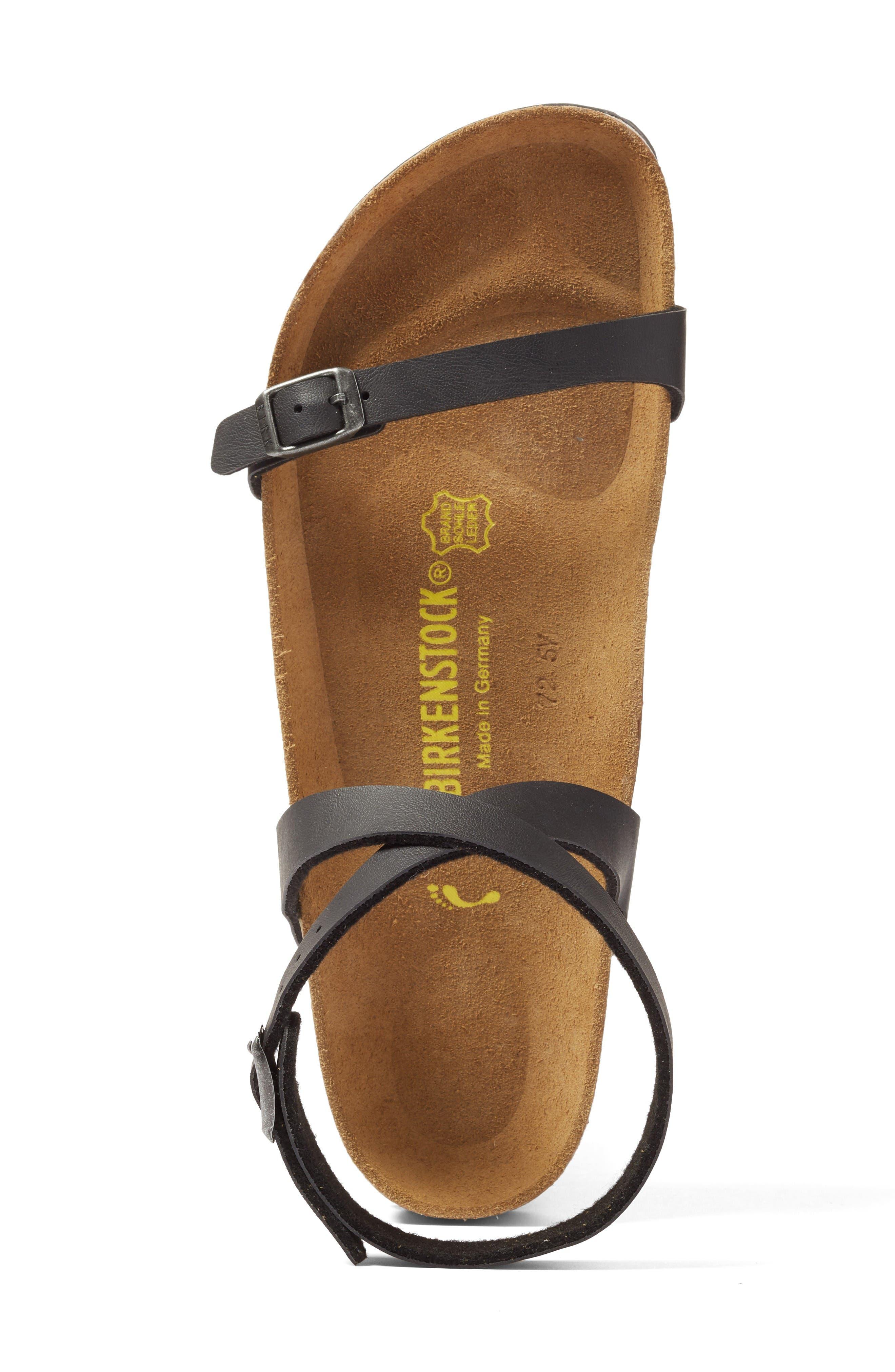 Daloa Ankle Strap Sandal,                             Alternate thumbnail 3, color,                             Black