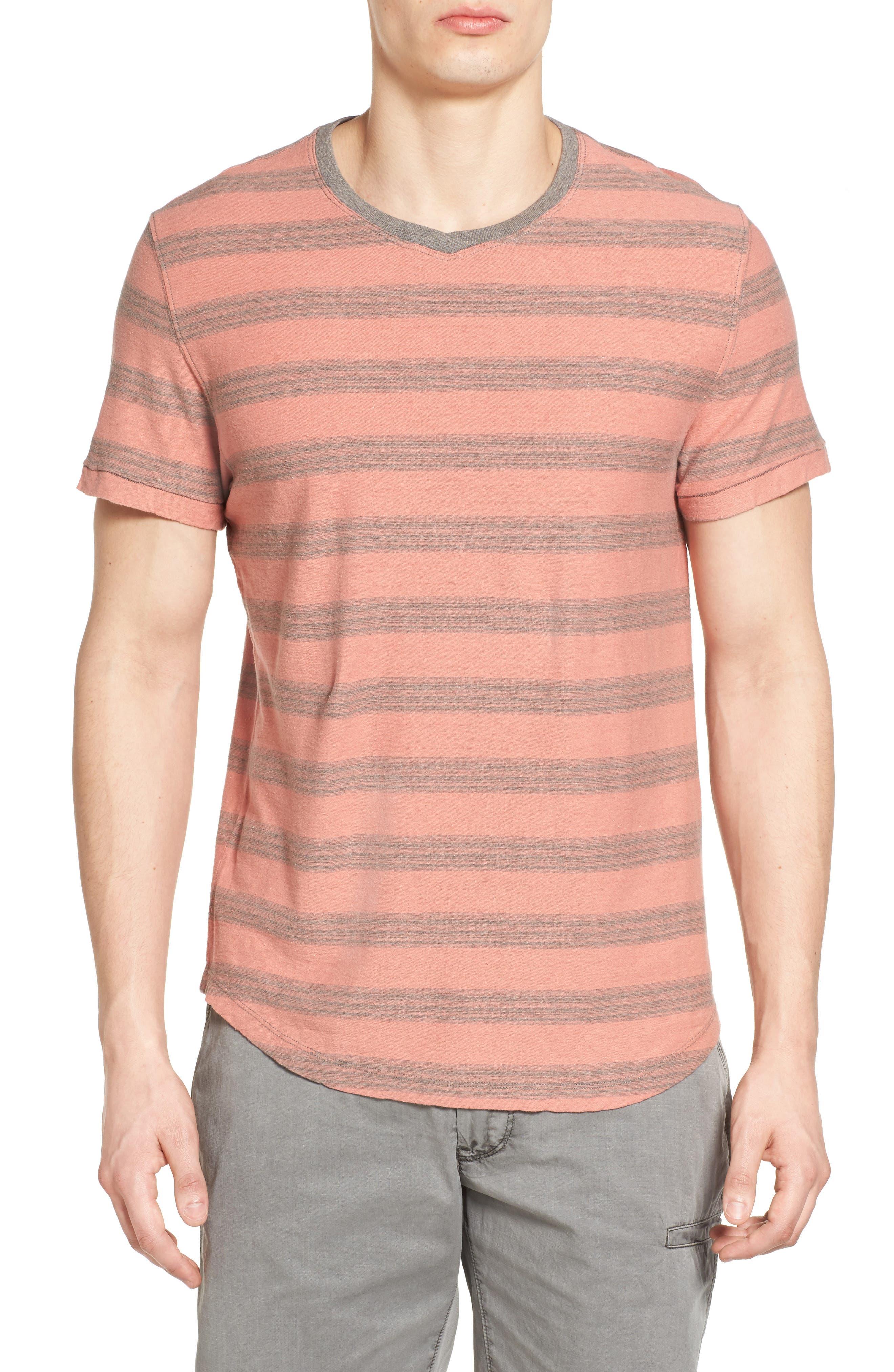 Alternate Image 1 Selected - Jeremiah Ventura Stripe Linen & Cotton T-Shirt