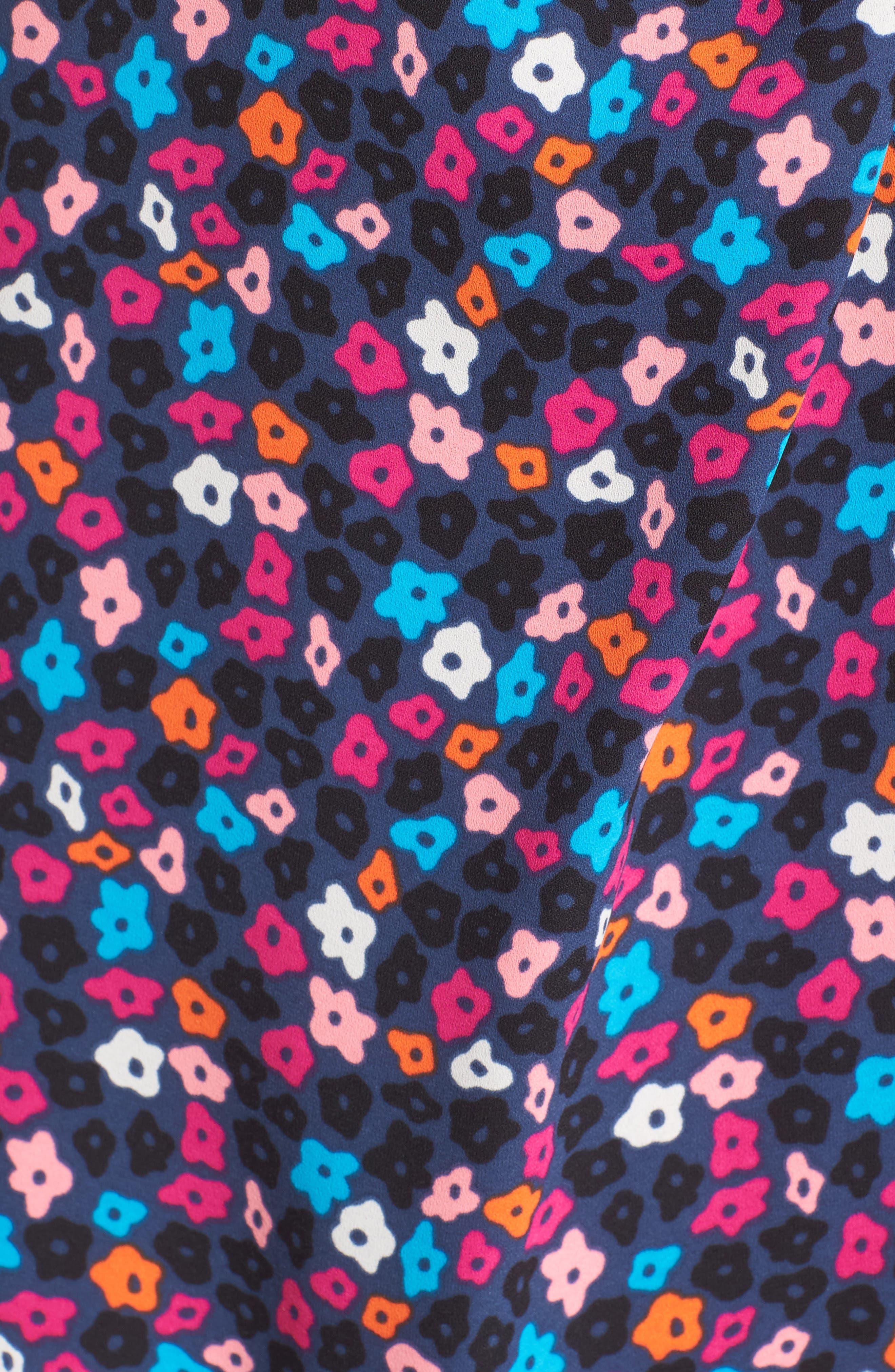 Alternate Image 5  - Anne Klein Adagio Print Faux Wrap Dress