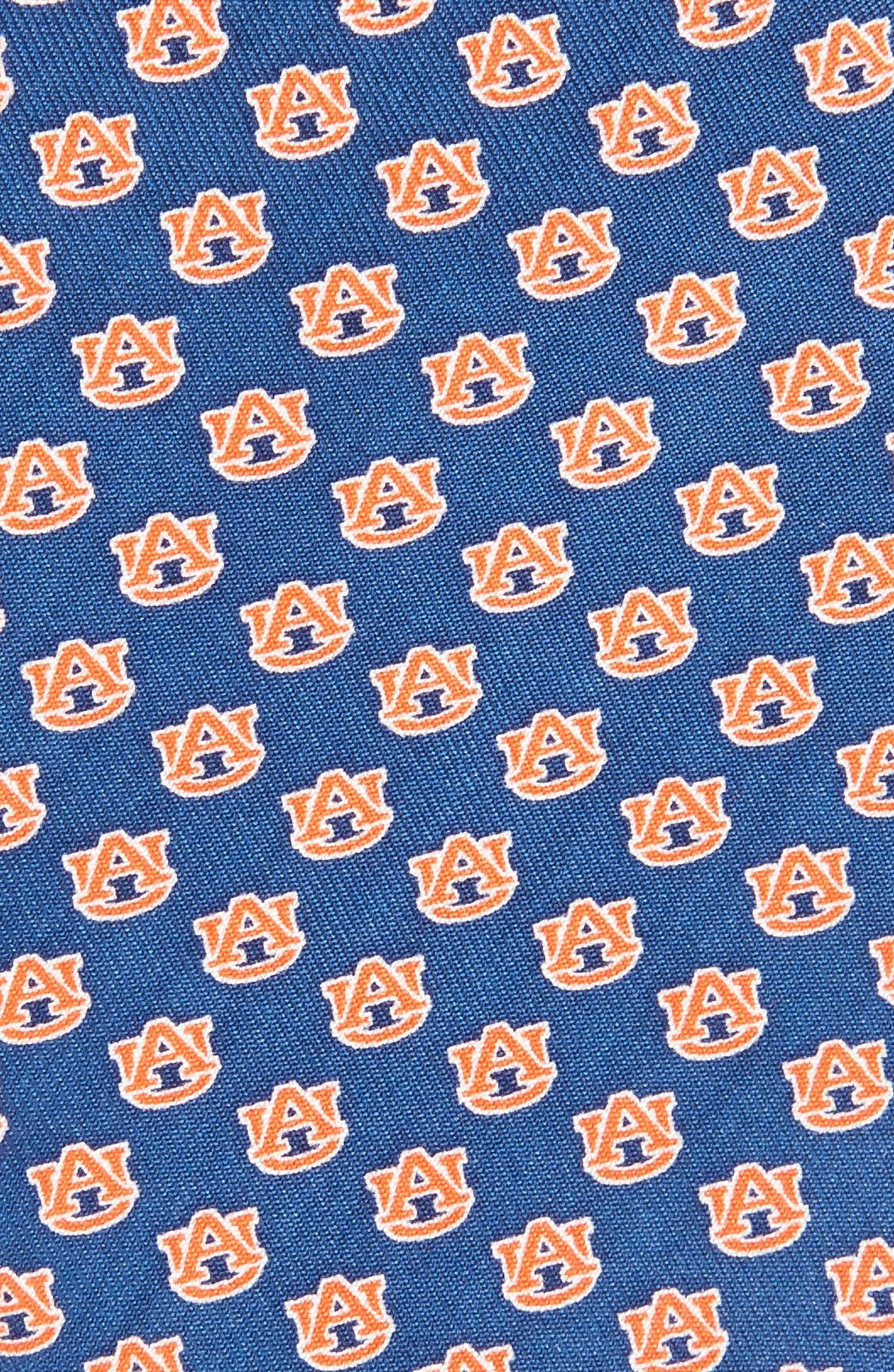 Auburn University Silk Tie,                             Alternate thumbnail 2, color,                             Vineyard Navy