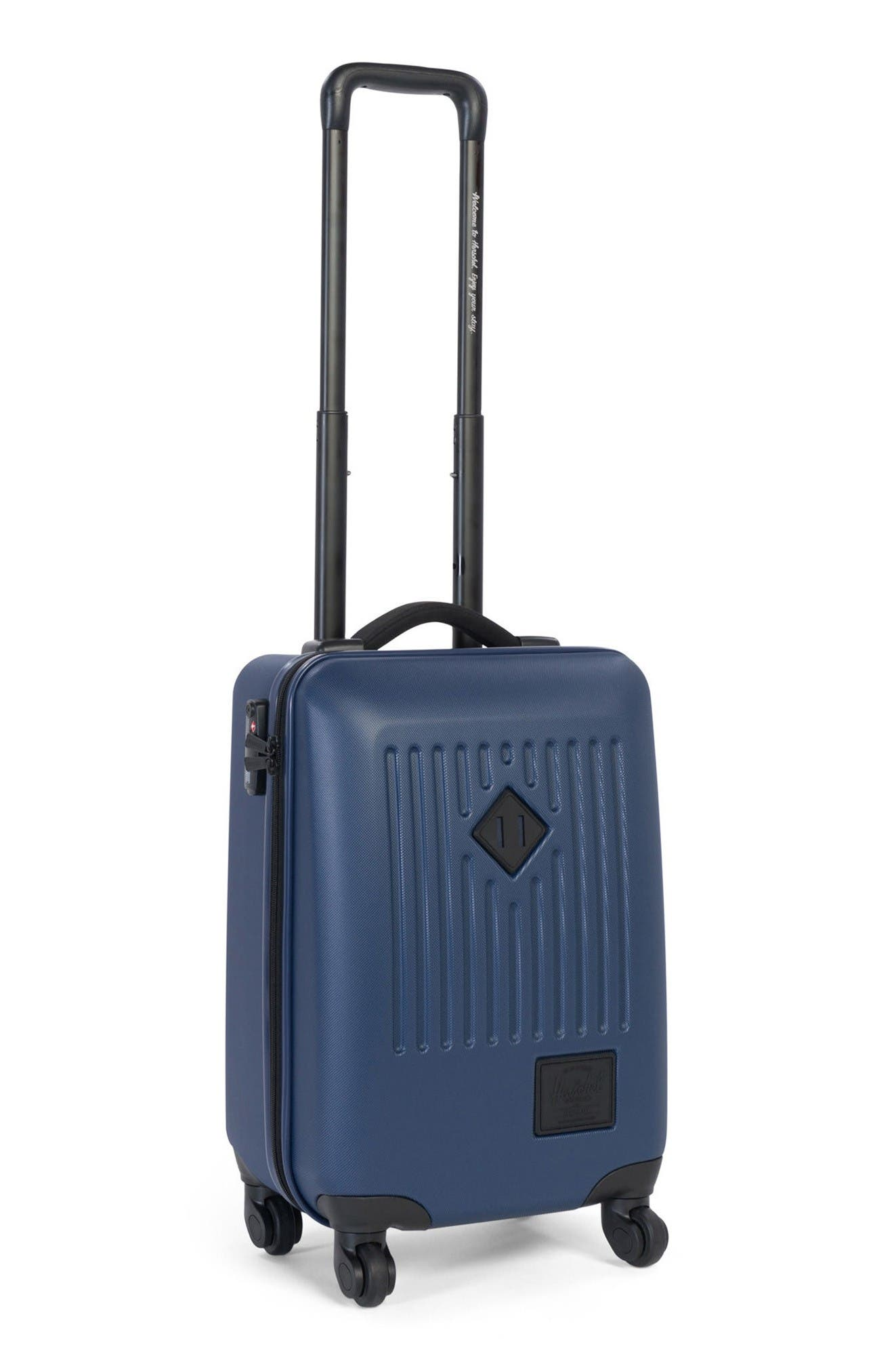 Herschel Supply Co Trade Small 20-Inch Rolling Hard Shell Suitcase,                             Alternate thumbnail 3, color,                             Navy