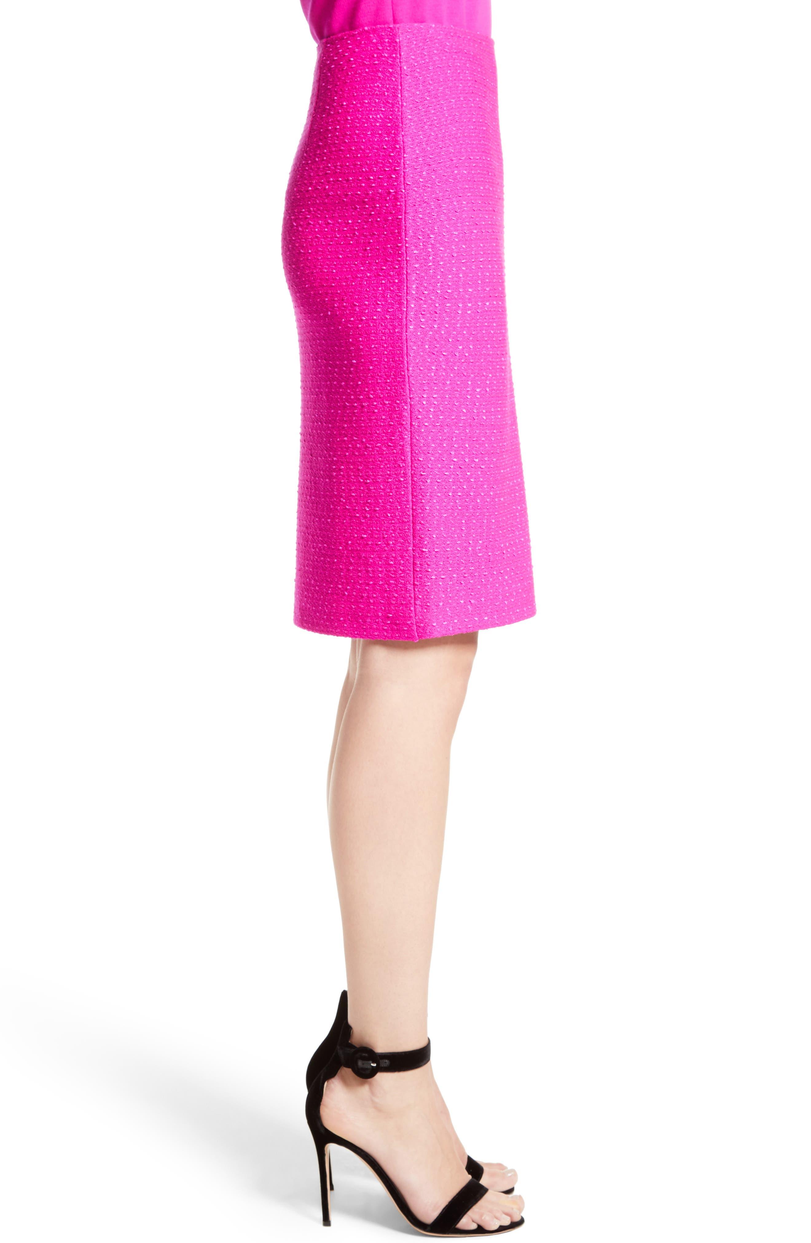 Alternate Image 3  - St. John Collection Ribbon Texture Knit Skirt