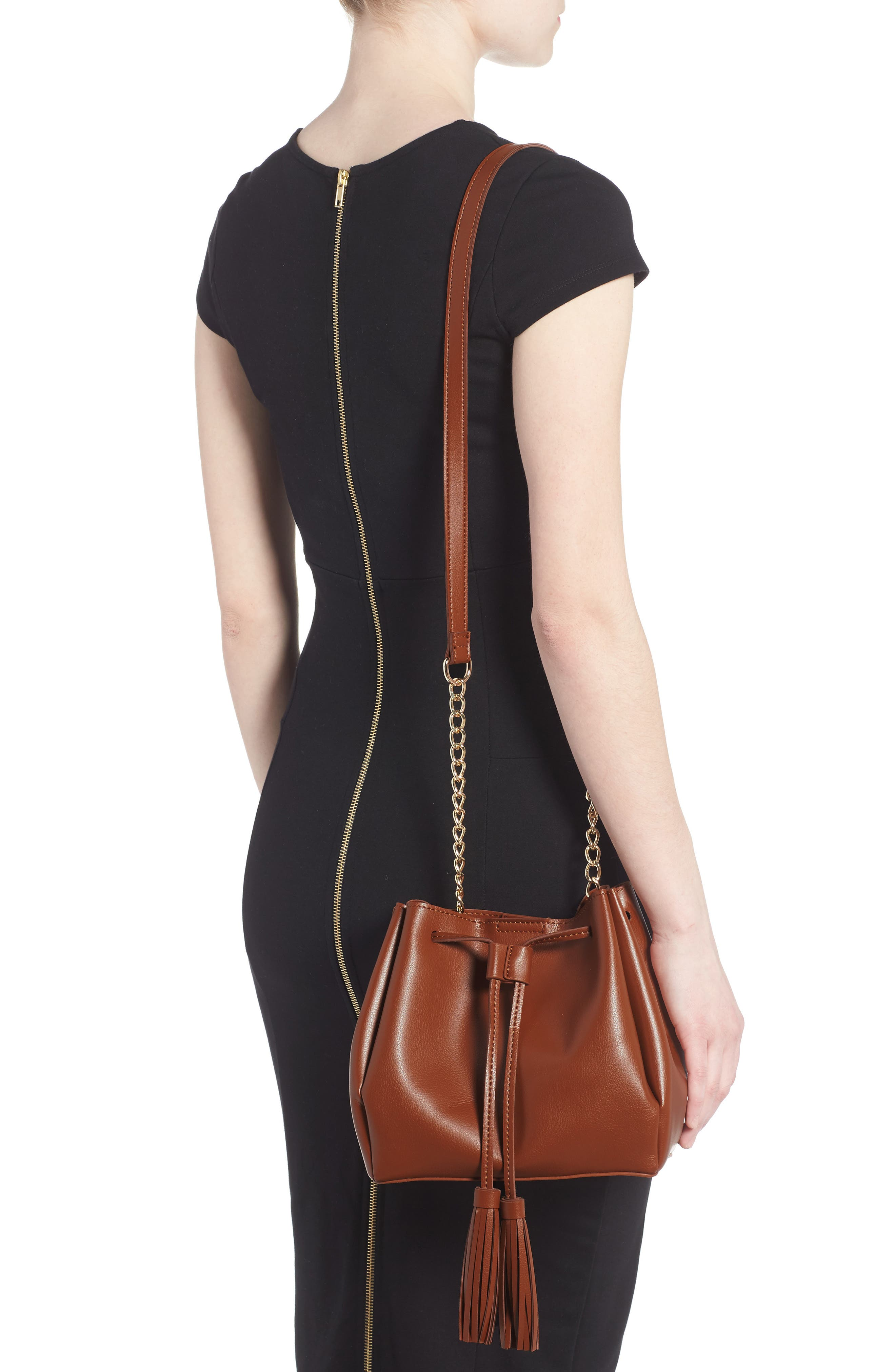 Alternate Image 2  - Emperia Dahlia Faux Leather Bucket Bag