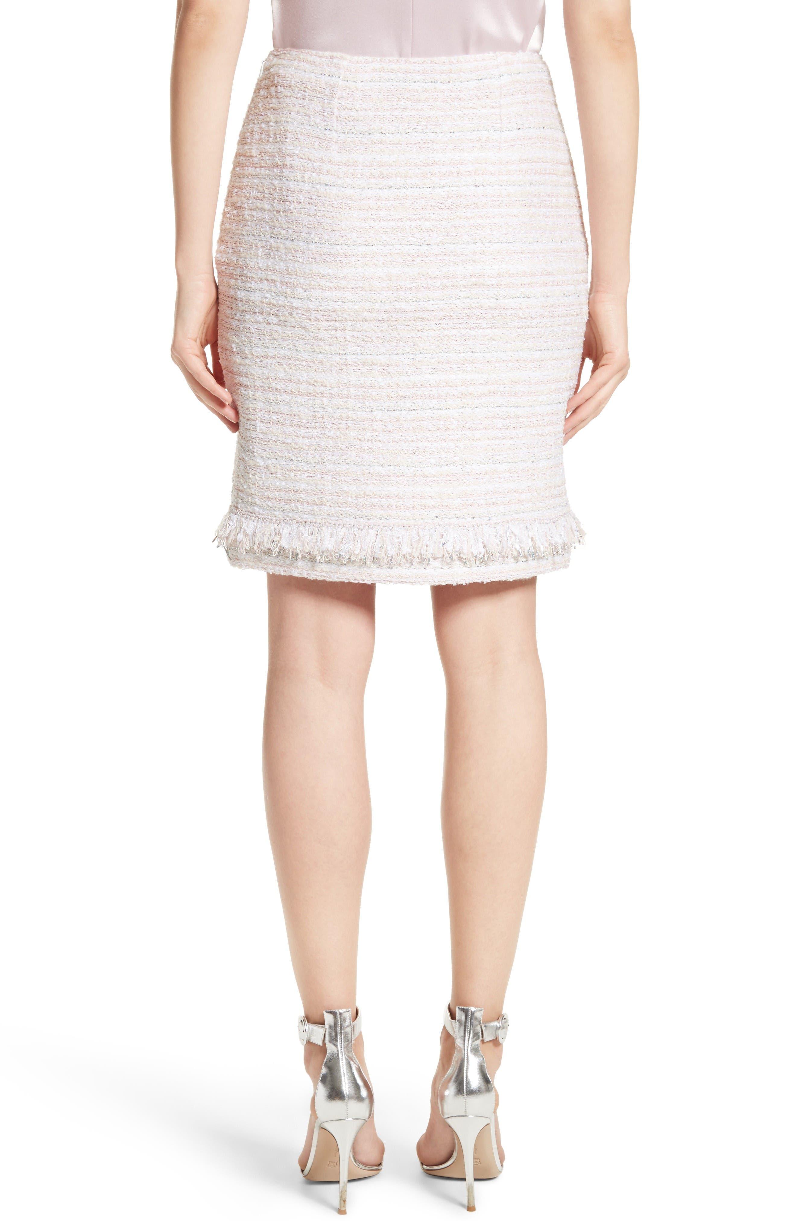 Padmesh Tweed Knit Skirt,                             Alternate thumbnail 2, color,                             Petal Multi