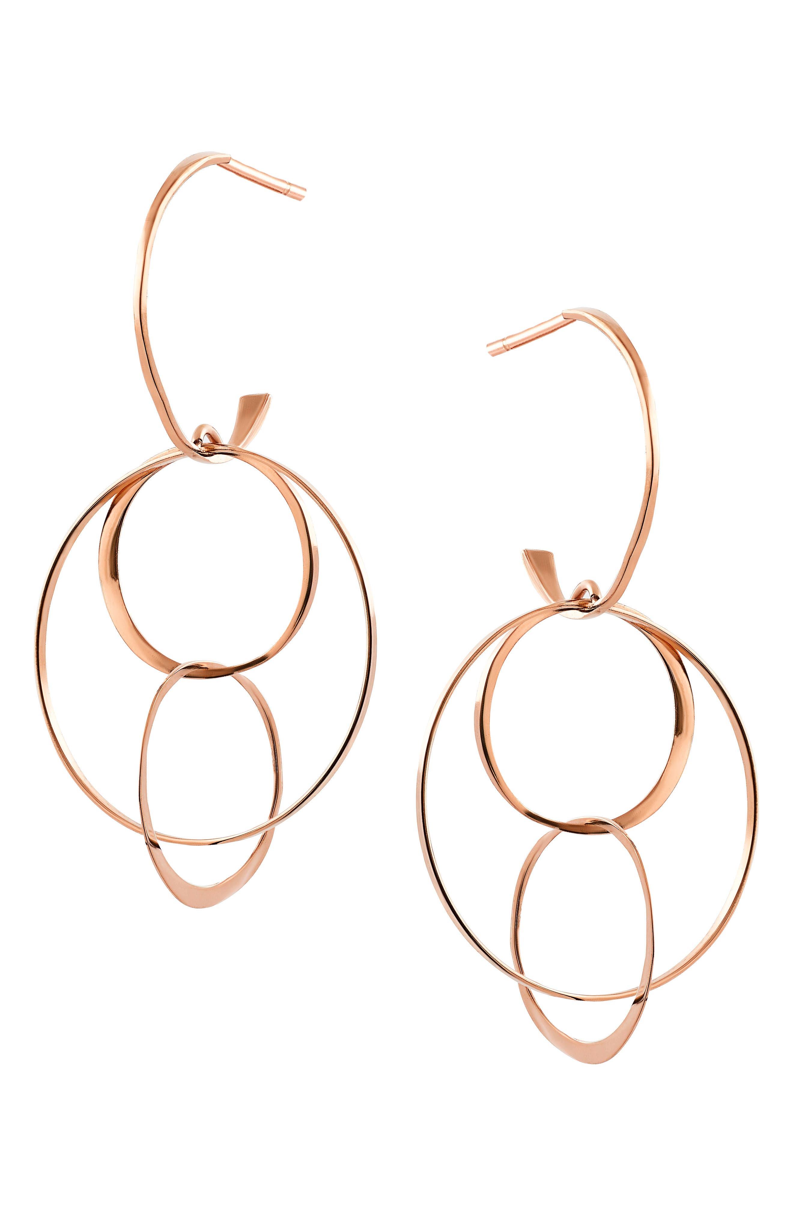 Openwork Drop Earrings,                         Main,                         color, Rose Gold