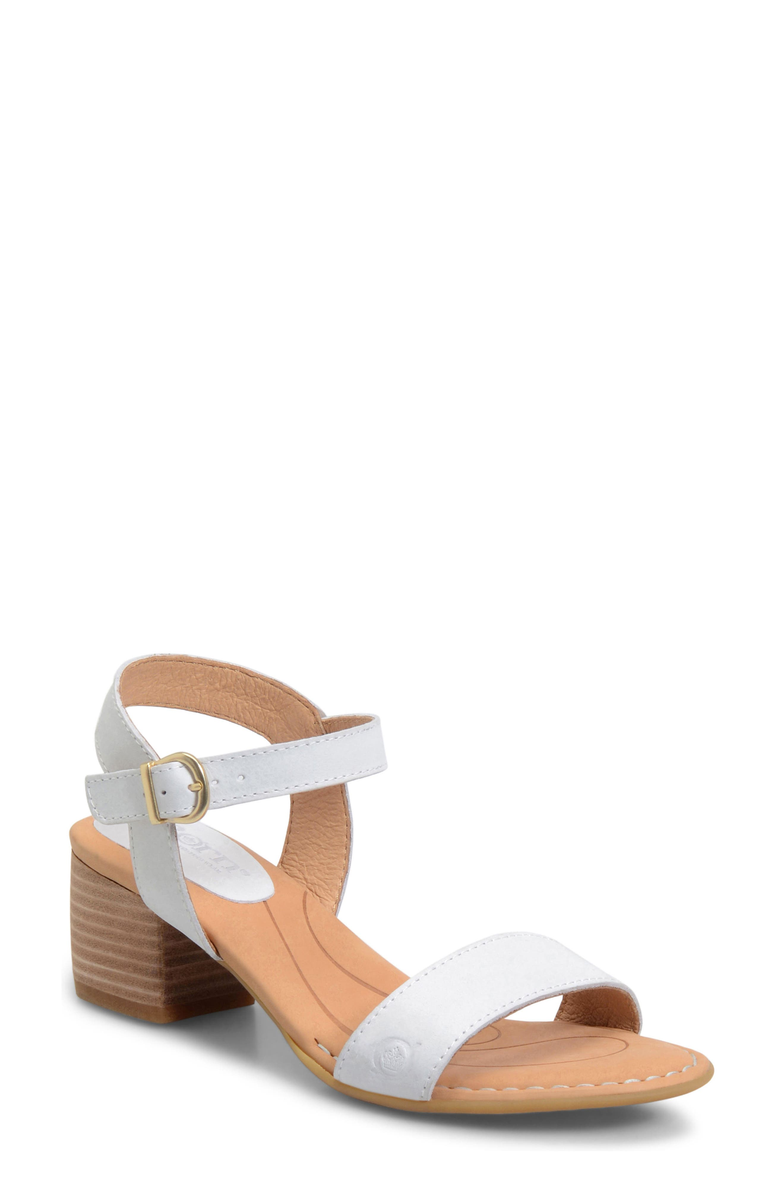 Medan Sandal,                         Main,                         color, White Leather