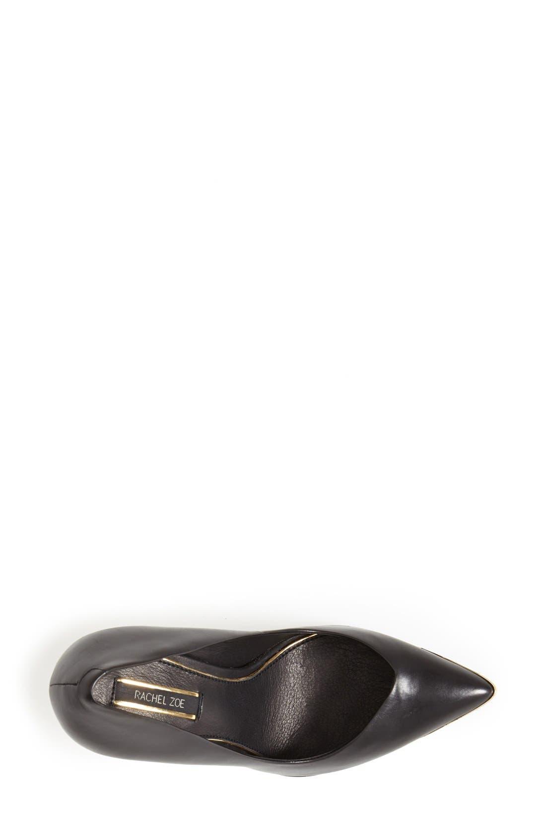 Alternate Image 3  - Rachel Zoe 'Carina' Leather Pointy Toe Pump (Women)