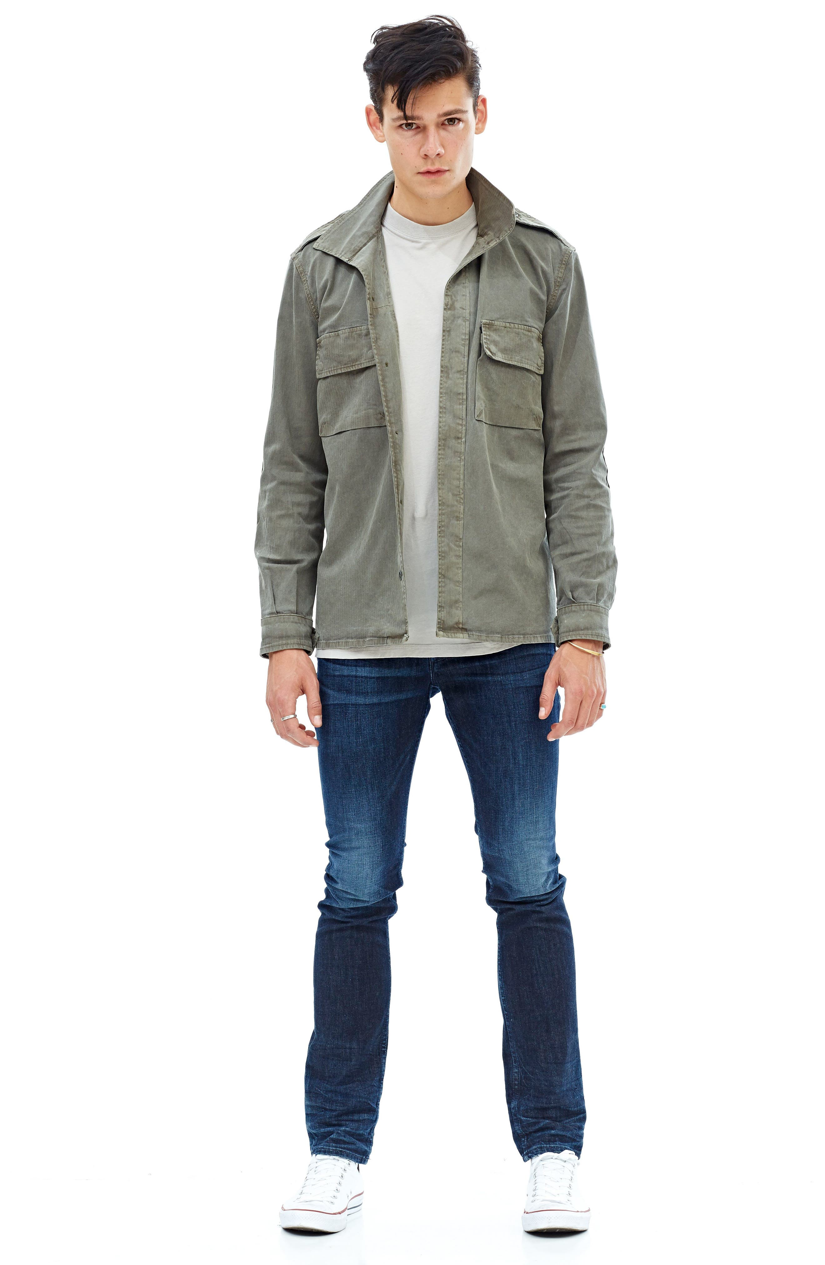 Alternate Image 6  - Hudson Jeans Axl Skinny Fit Jeans (Glove Game)