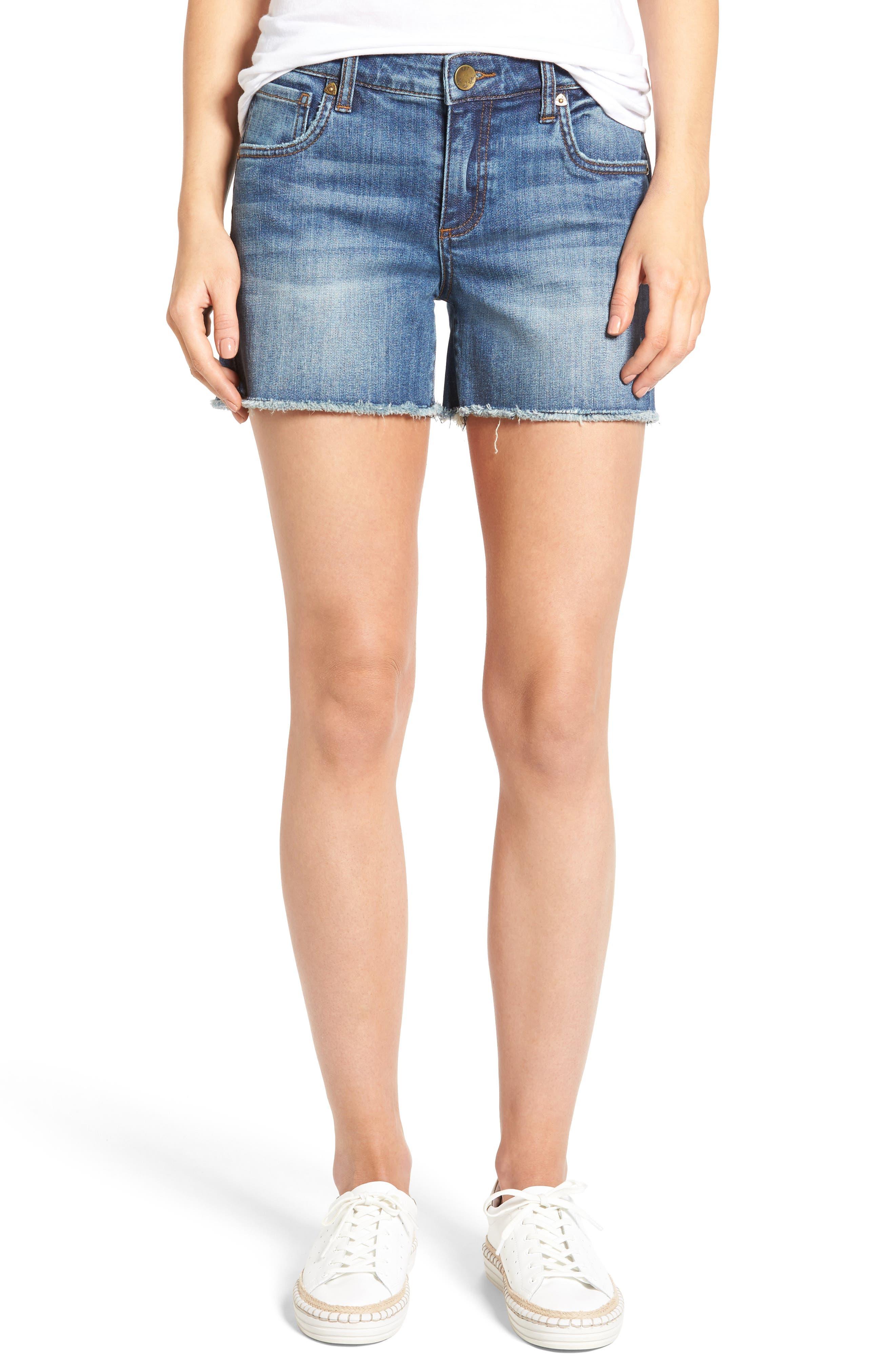 Main Image - KUT from the Kloth Gidget Denim Shorts (Consolidated) (Regular & Petite)