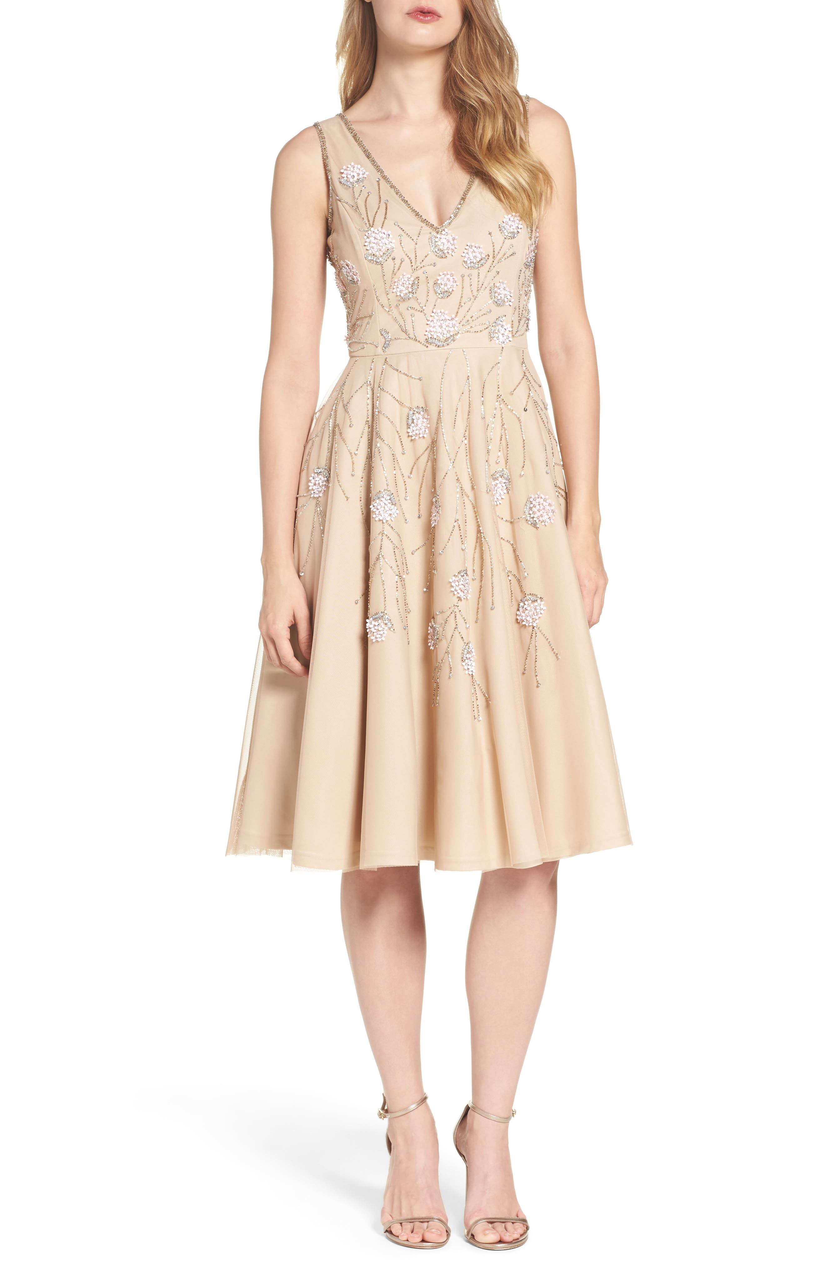 Alternate Image 1 Selected - Adrianna Papell Embellished Dress