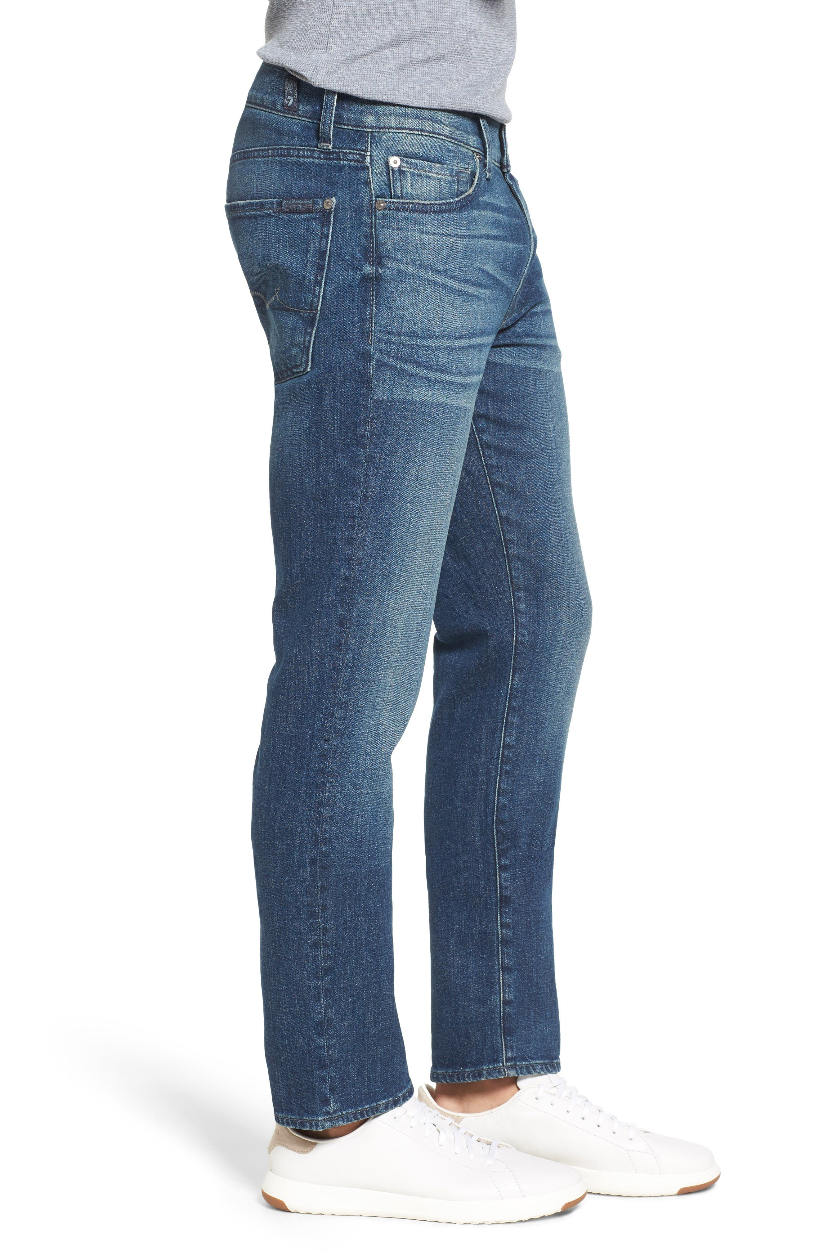 7 For All Mankind Slimmy Slim Fit Jeans,                             Alternate thumbnail 3, color,                             Calgary Blue