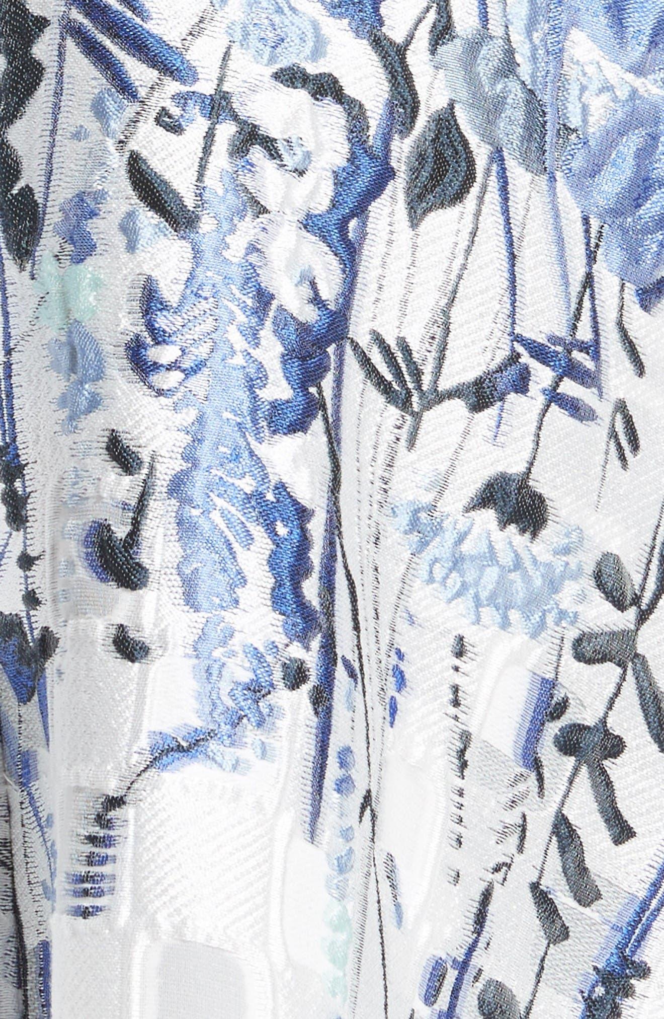Alternate Image 3  - Lela Rose Wildflower Fil Coupé Dress