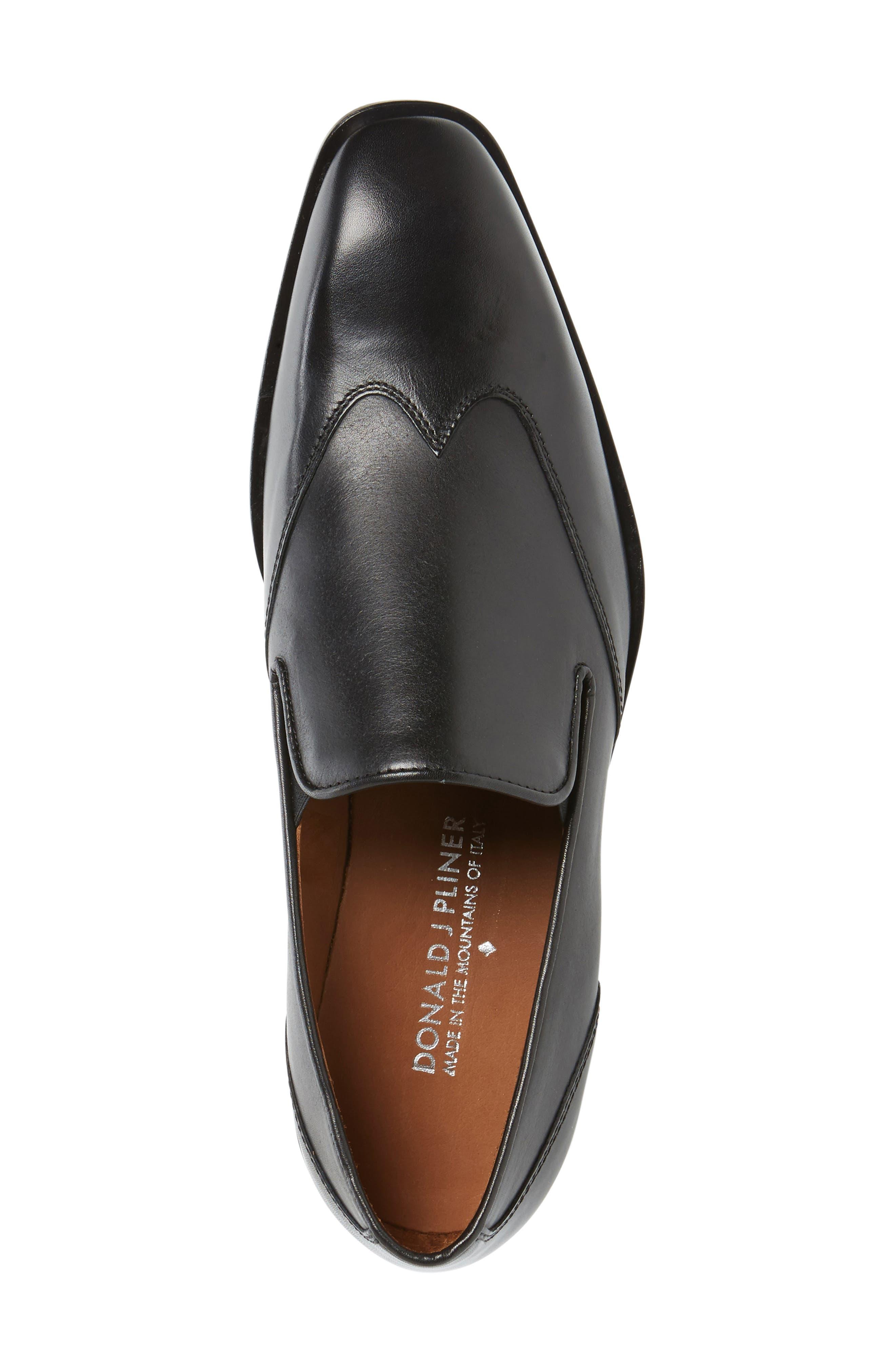 Valente Venetian Loafer,                             Alternate thumbnail 3, color,                             Black Leather