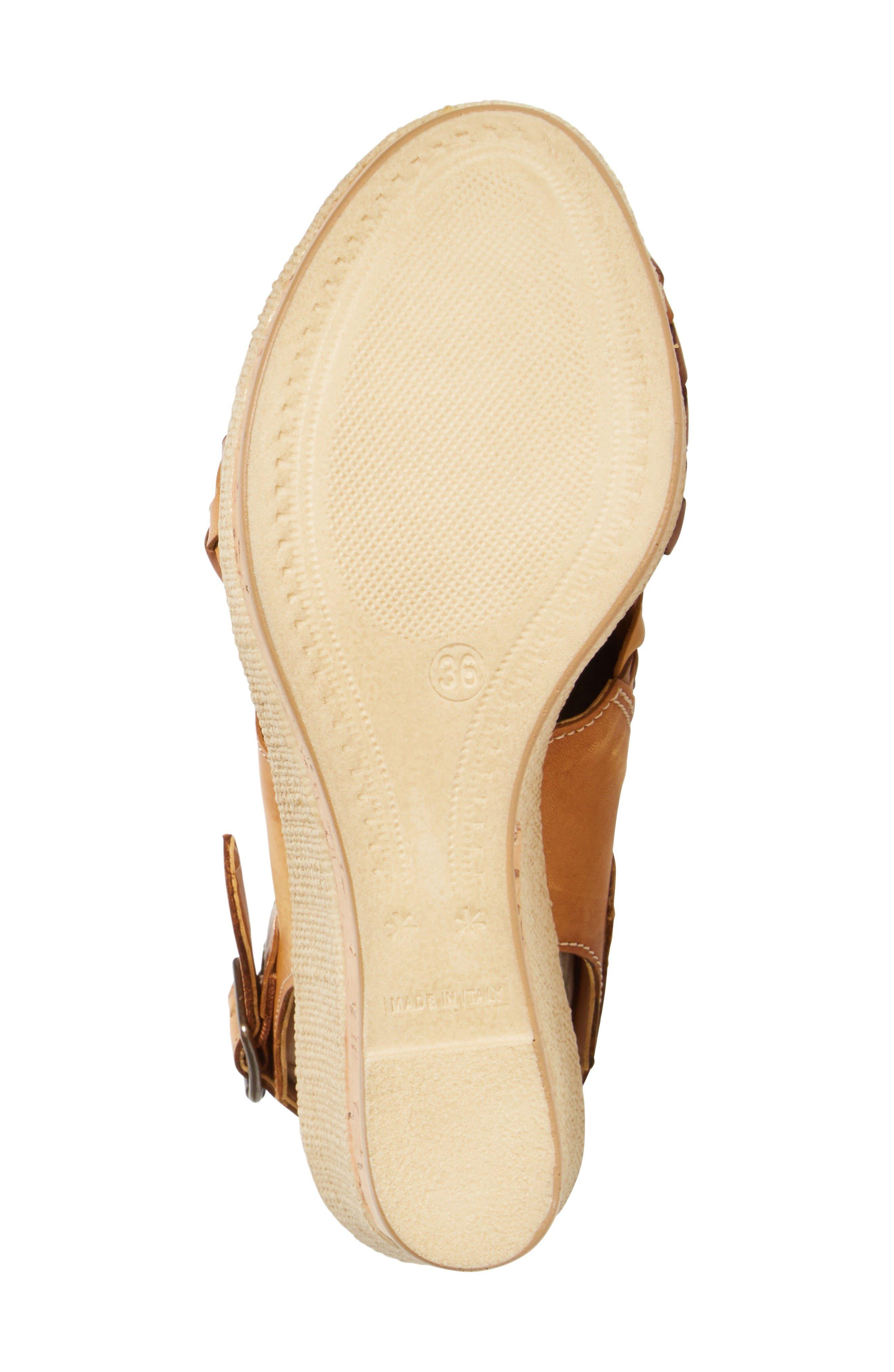 Love Wedge Sandal,                             Alternate thumbnail 4, color,                             Earth Leather