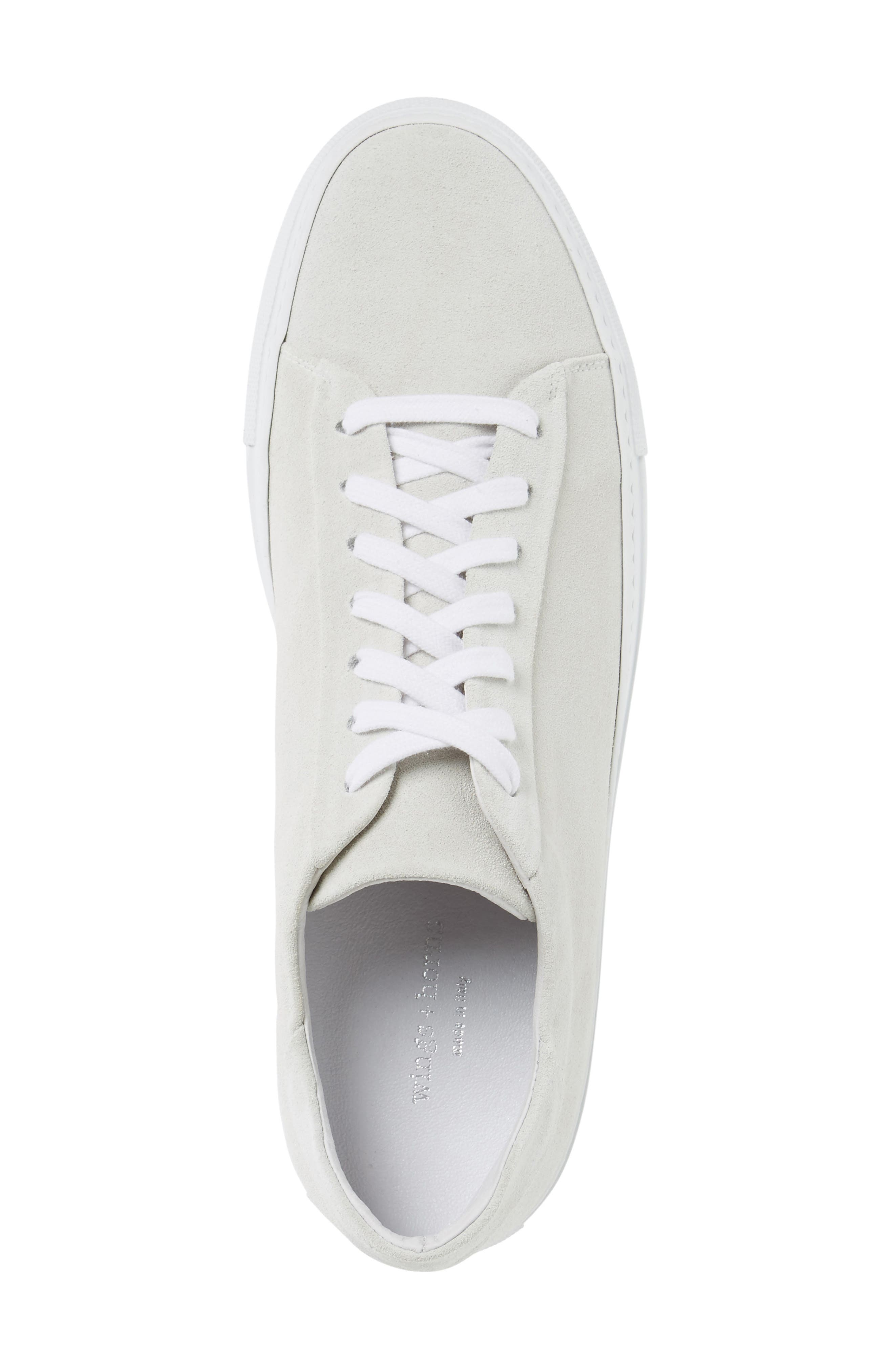 Court Sneaker,                             Alternate thumbnail 3, color,                             White Suede