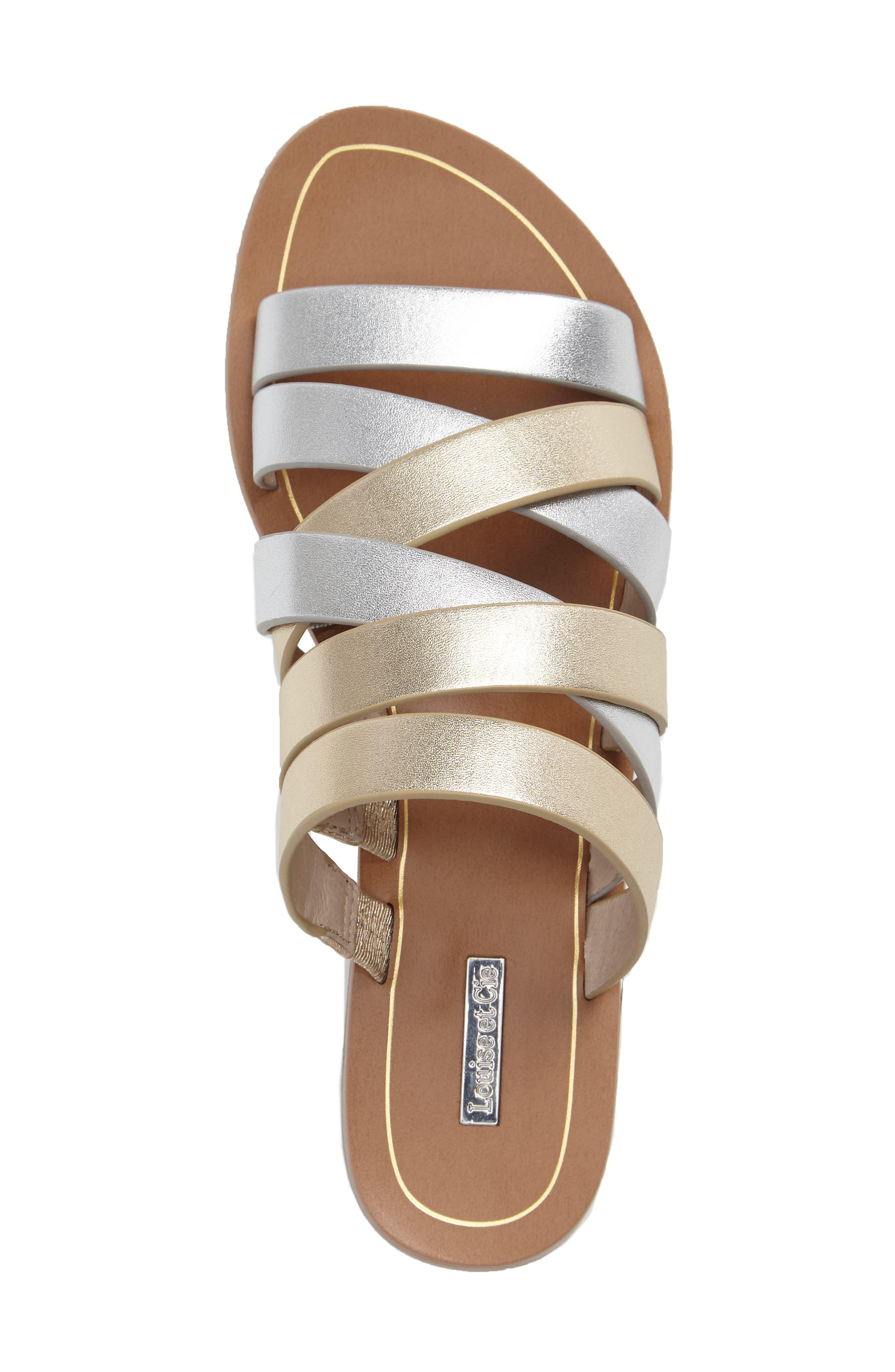 Braelynn Slide Sandal,                             Alternate thumbnail 3, color,                             Sterling Leather