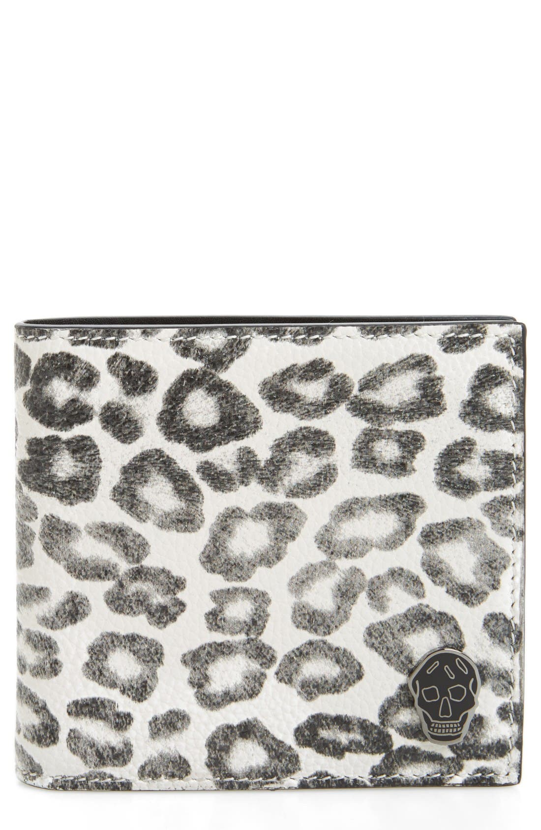 ALEXANDER MCQUEEN Leopard Print Leather Wallet