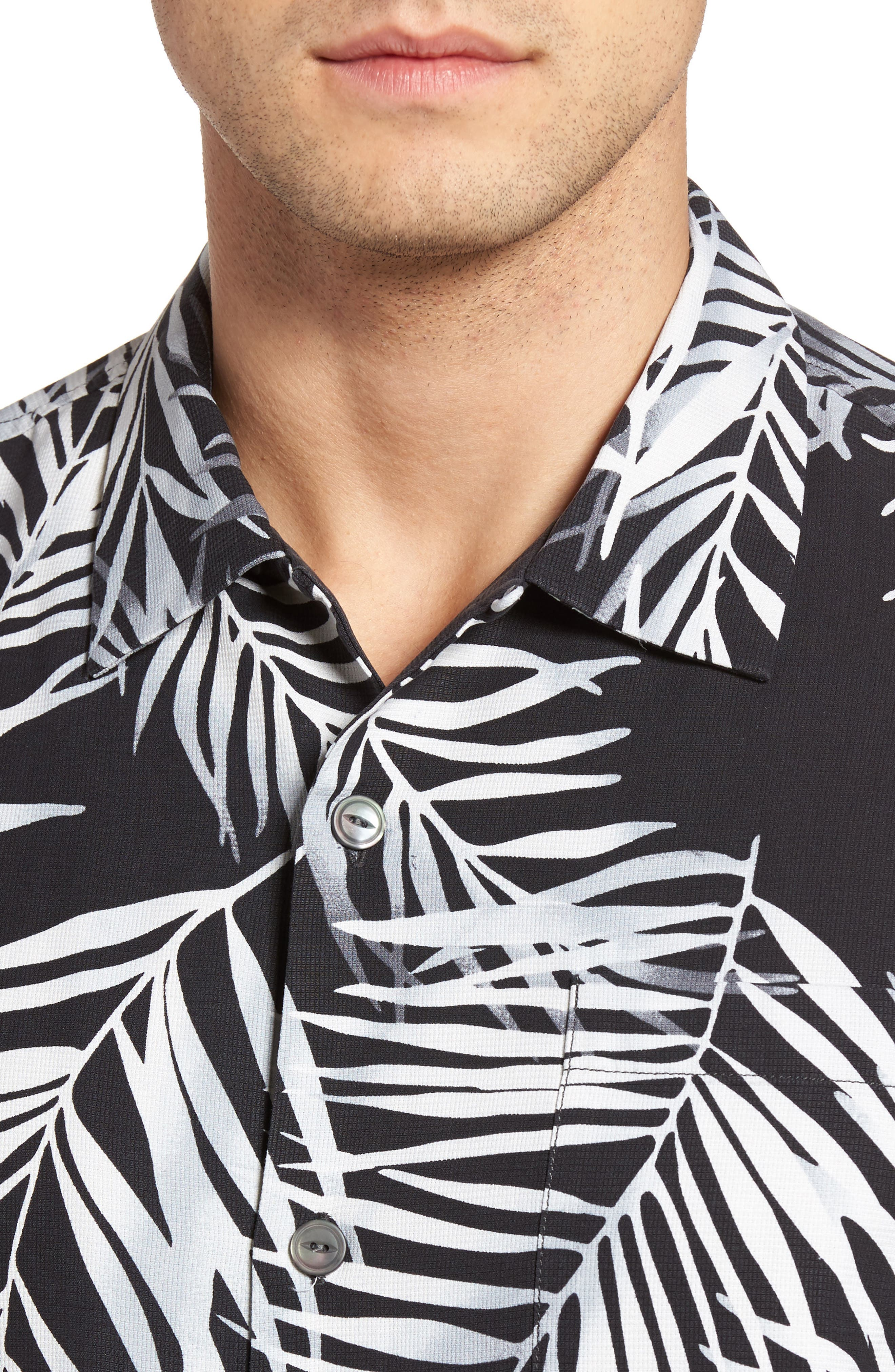 Alternate Image 4  - Tommy Bahama Beyond Frond Silk Camp Shirt