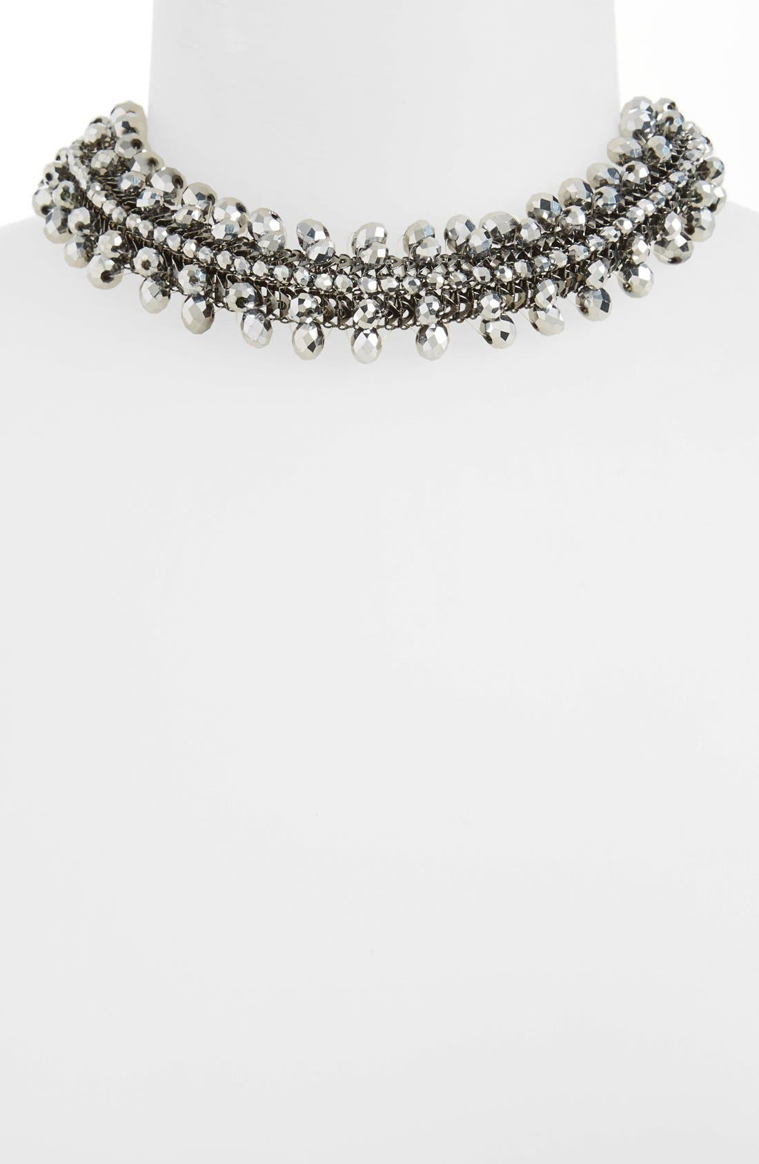 Alternate Image 1 Selected - Topshop Beaded Mesh Choker