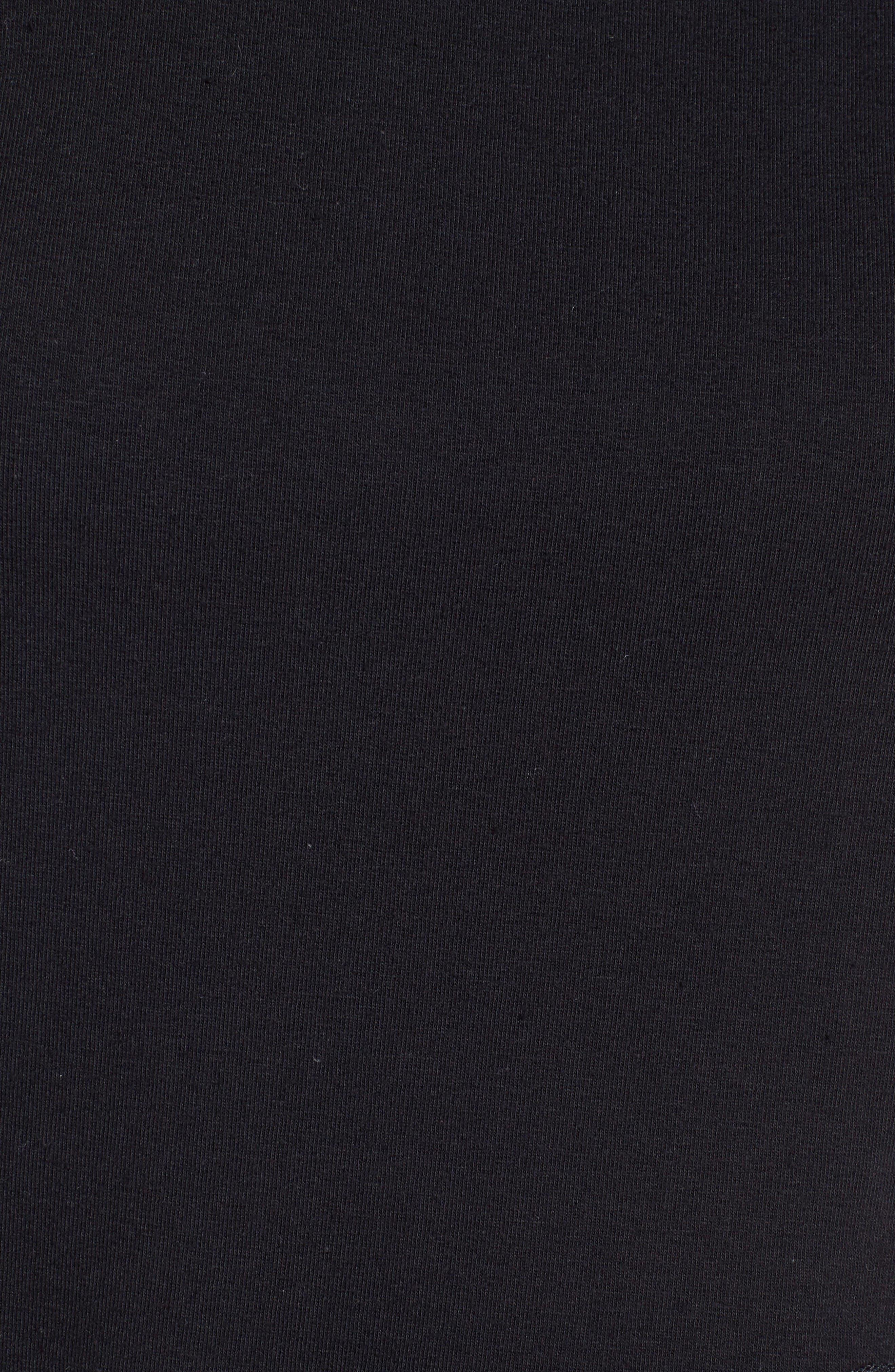 Alternate Image 5  - Bobeau Poplin Ruffle Tee (Regular & Petite)