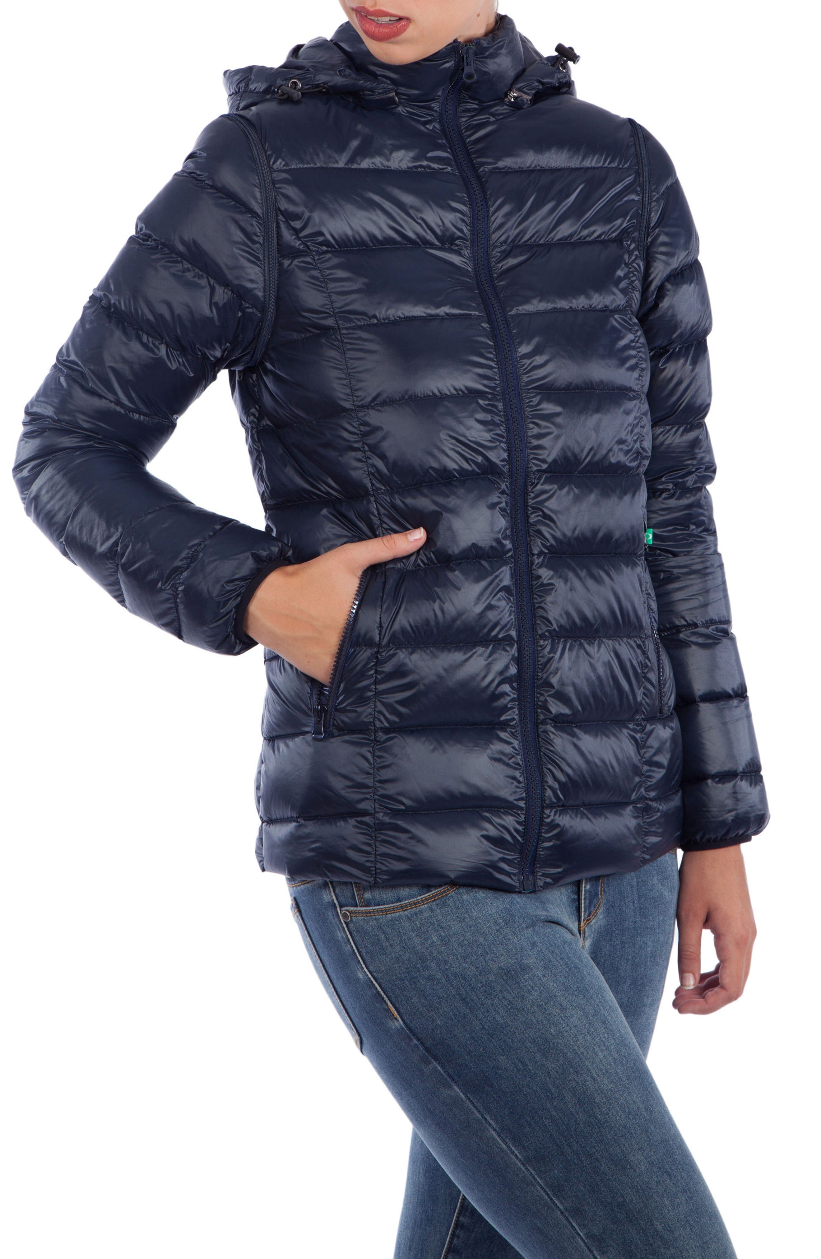 Alternate Image 1 Selected - Modern Eternity Lightweight Puffer Convertible Maternity Jacket