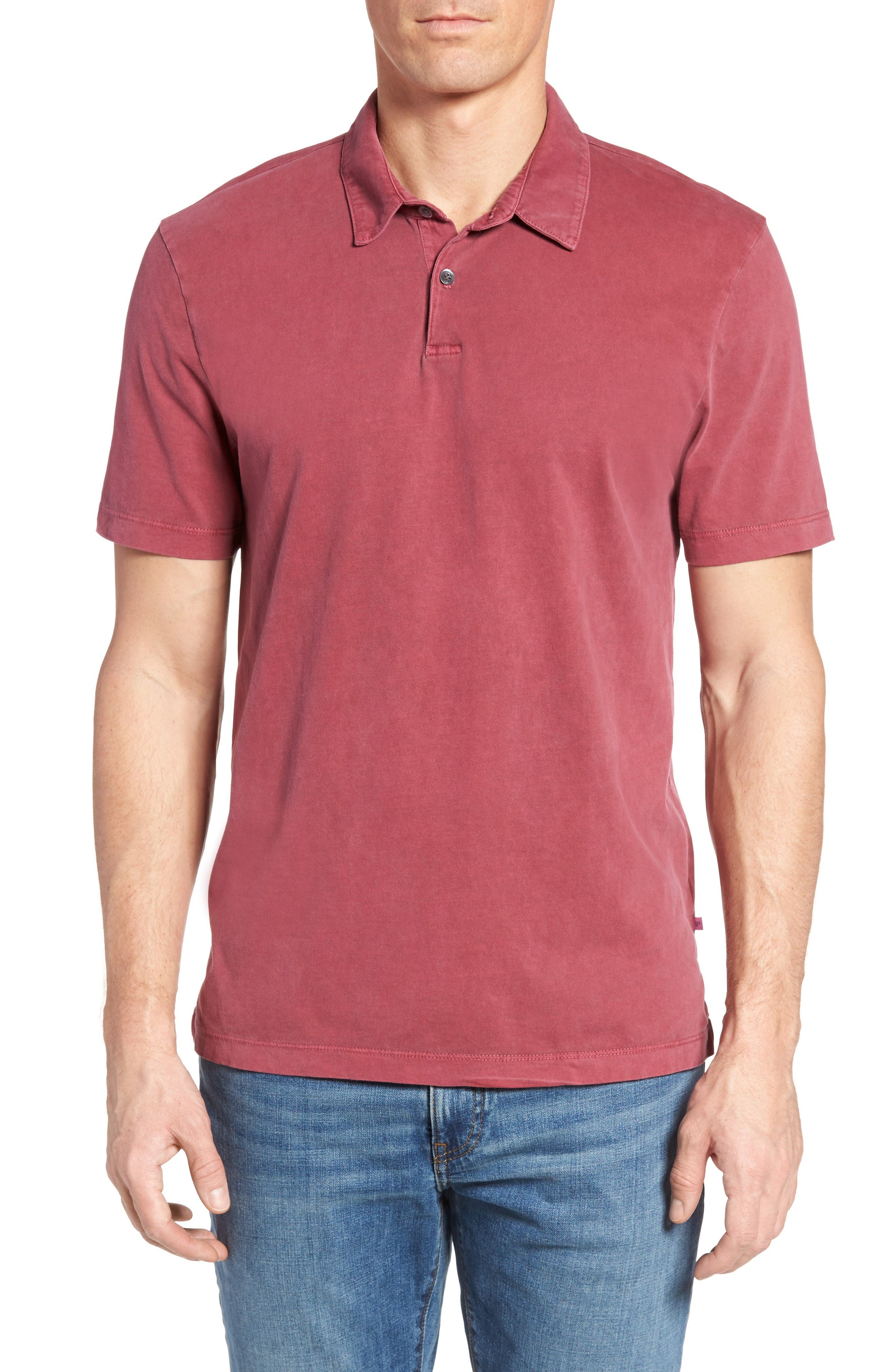 James Perse Slim Fit Sueded Jersey Polo