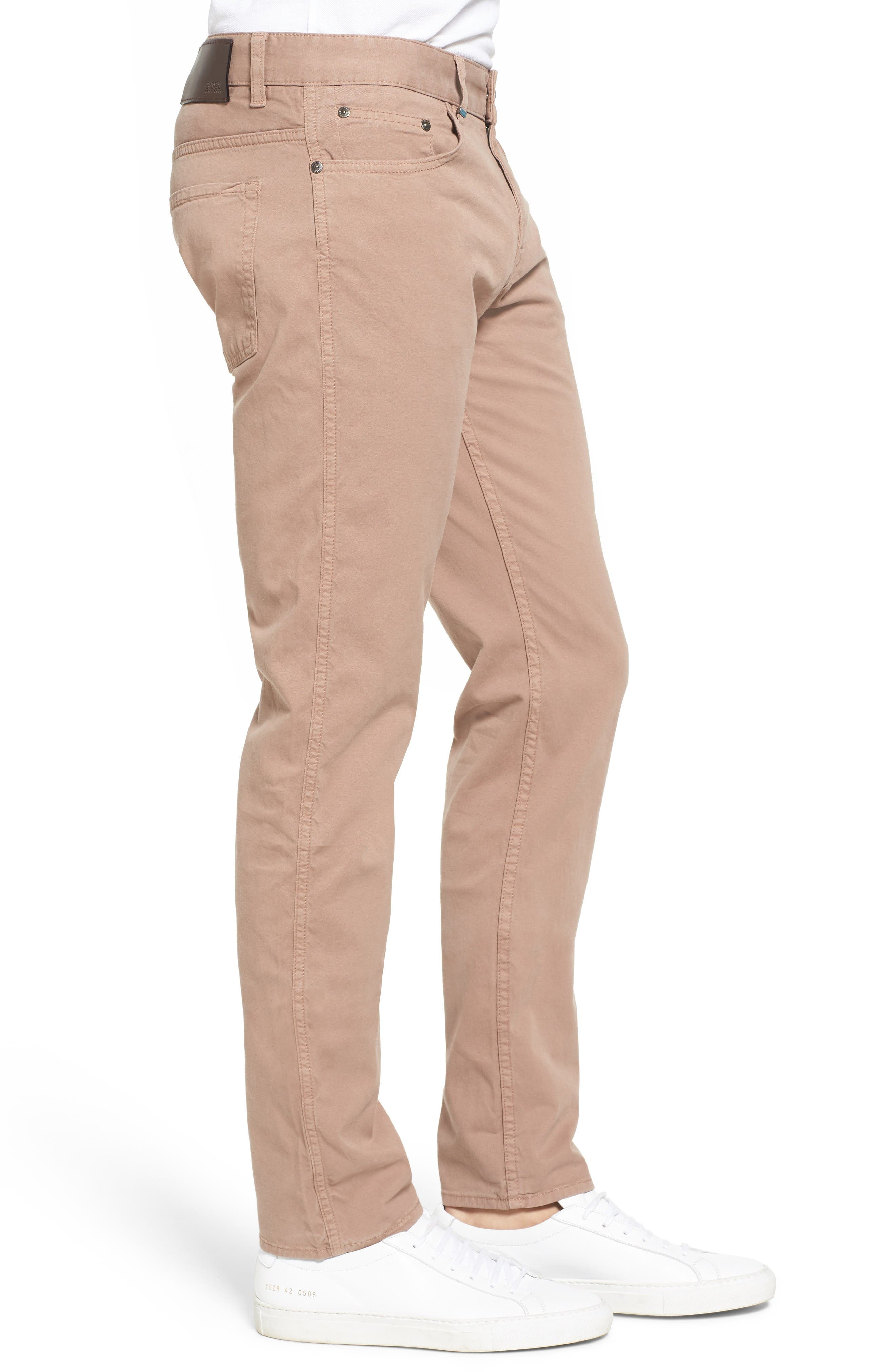 Delaware Slim Fit Stretch Cotton Pants,                             Alternate thumbnail 3, color,                             Khaki