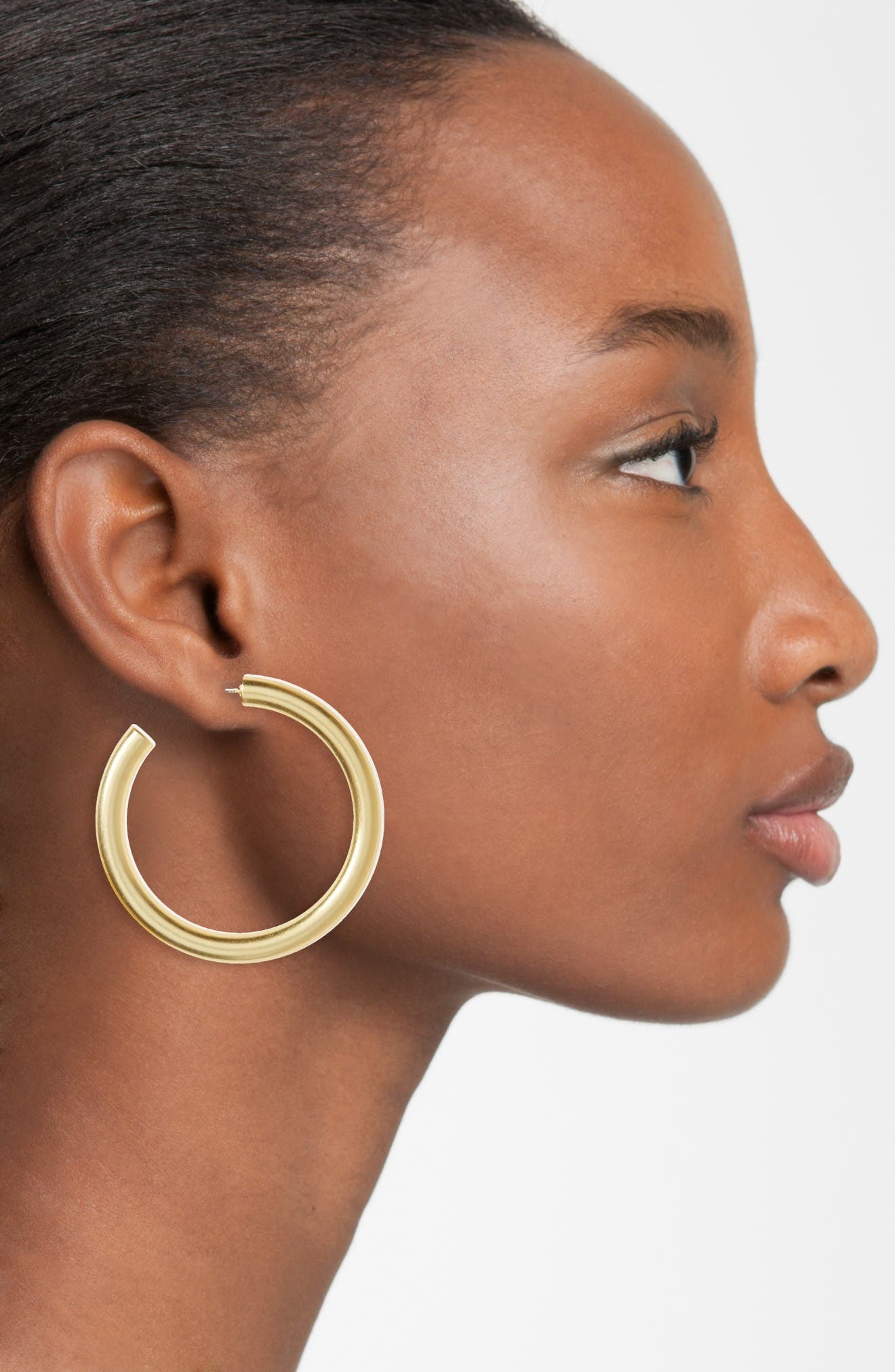 Simply Chunky Hoop Earrings,                             Alternate thumbnail 2, color,                             Vintage Gold