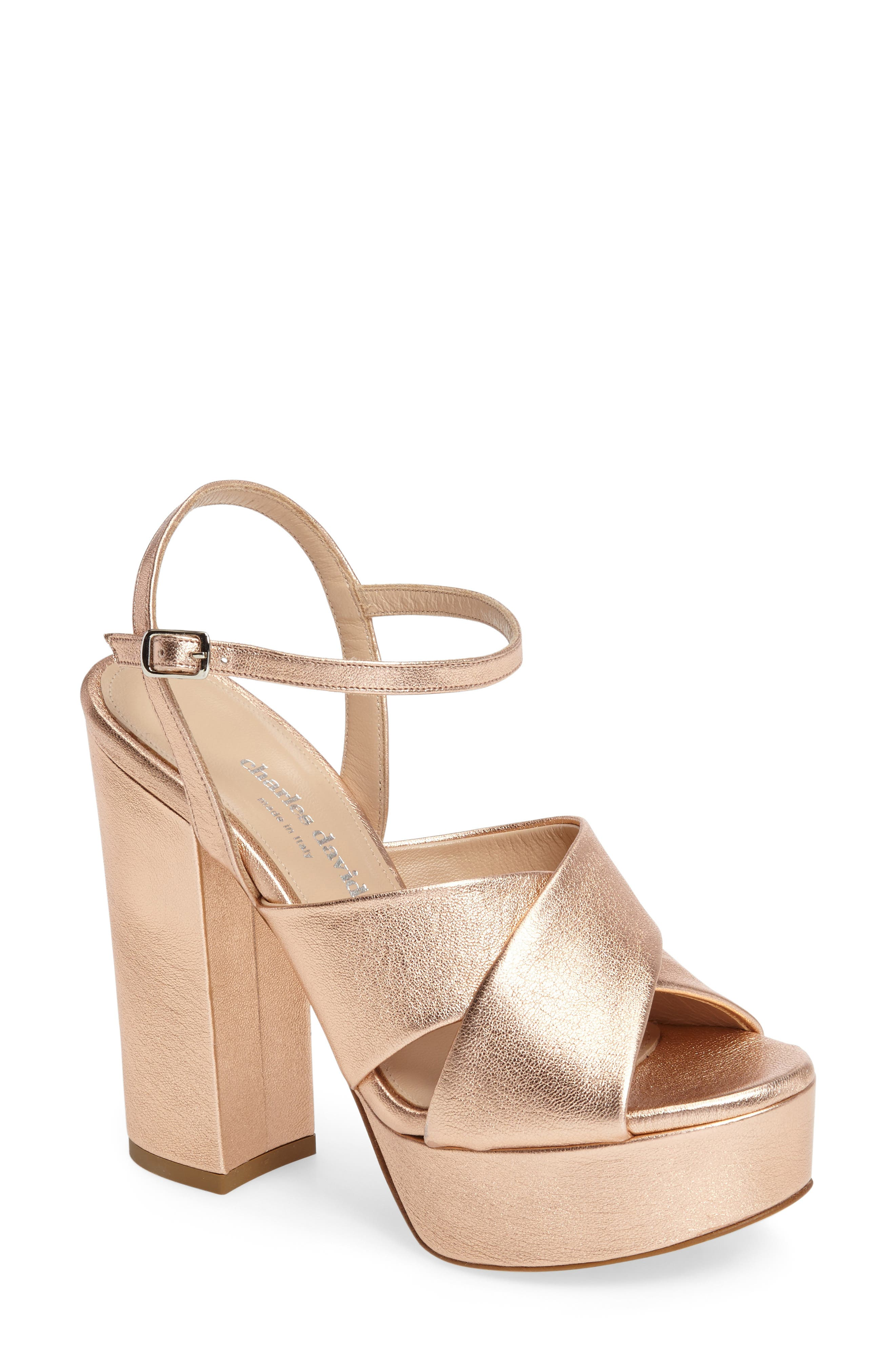 CHARLES DAVID Rima Platform Sandal